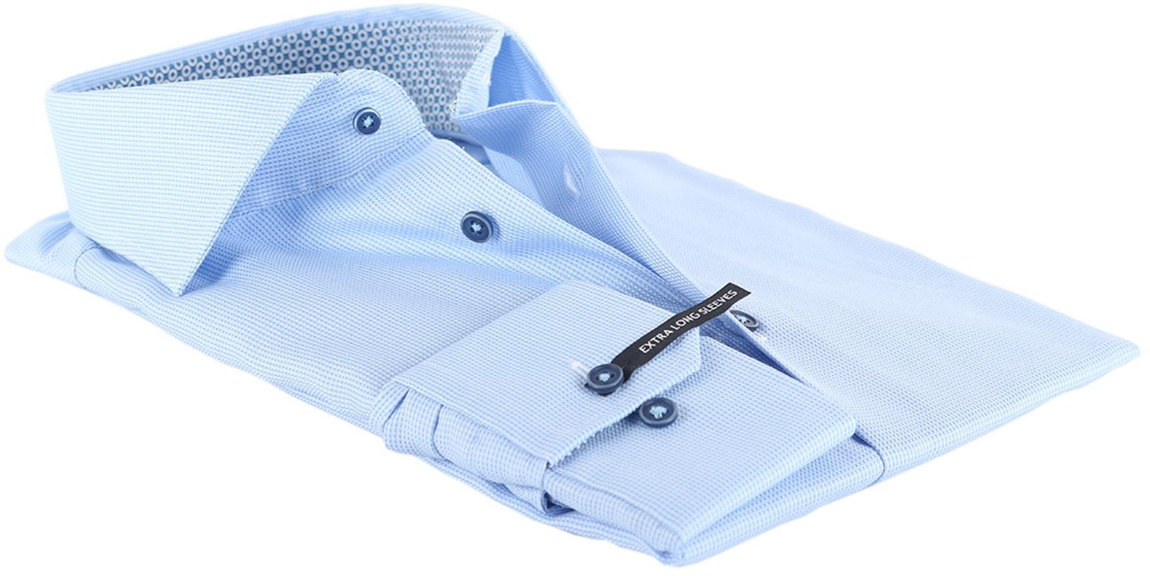 Michaelis Overhemd Dessin Blauw SL7 foto 3