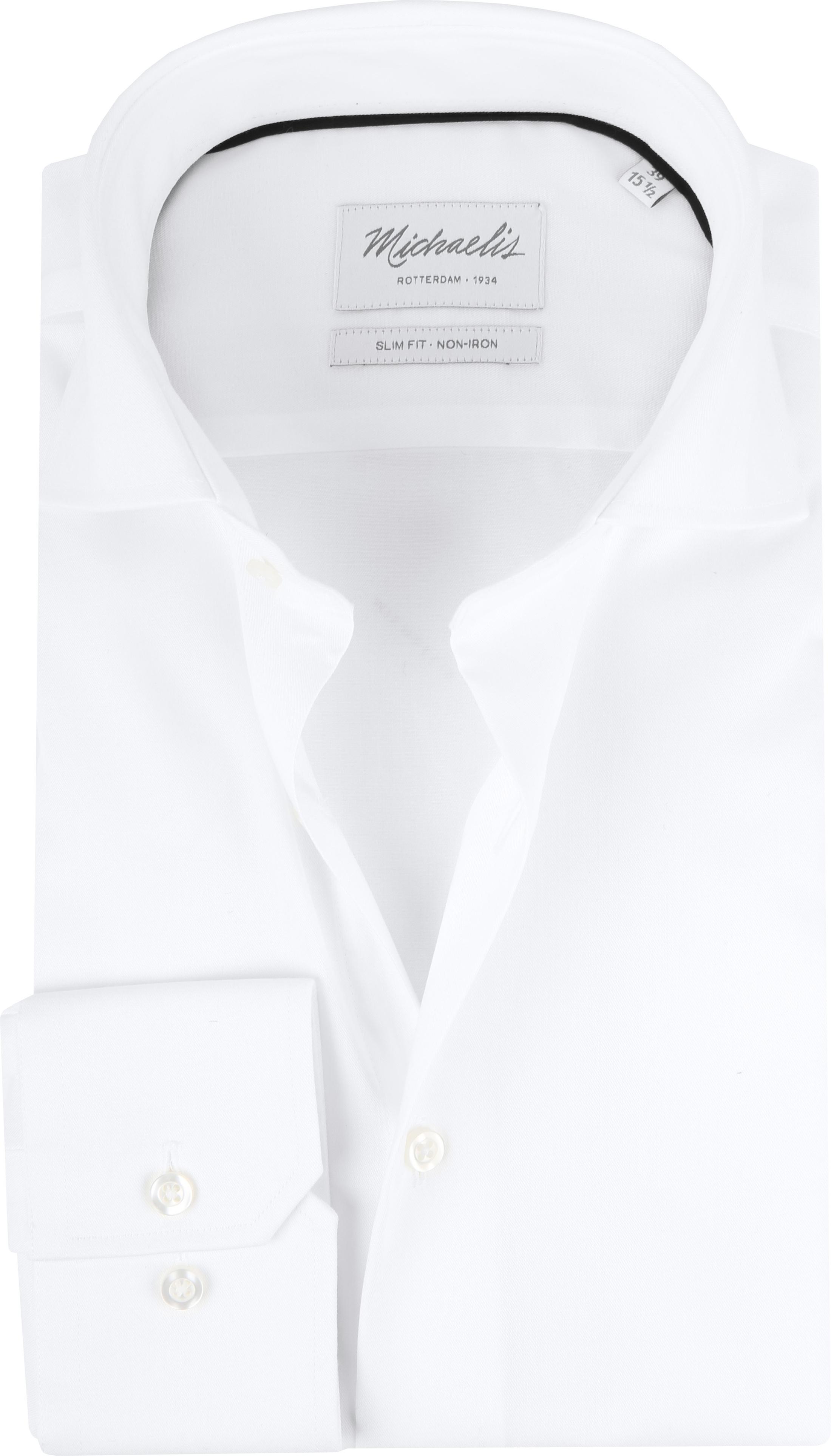 Slim Fit Wit Overhemd.Michaelis Overhemd Slim Fit Wit Pm0h000009