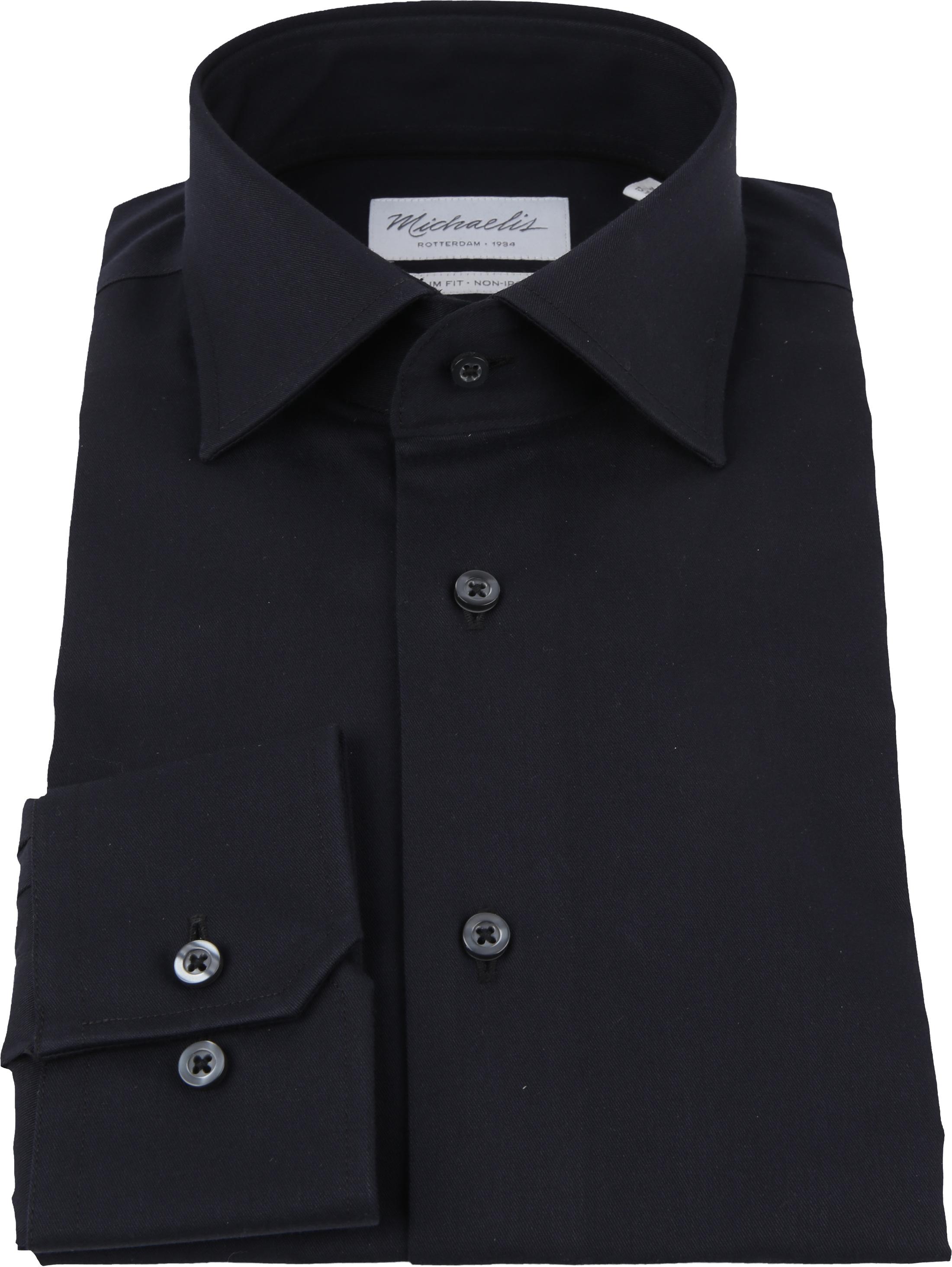 Michaelis Overhemd Slim Fit Zwart foto 3