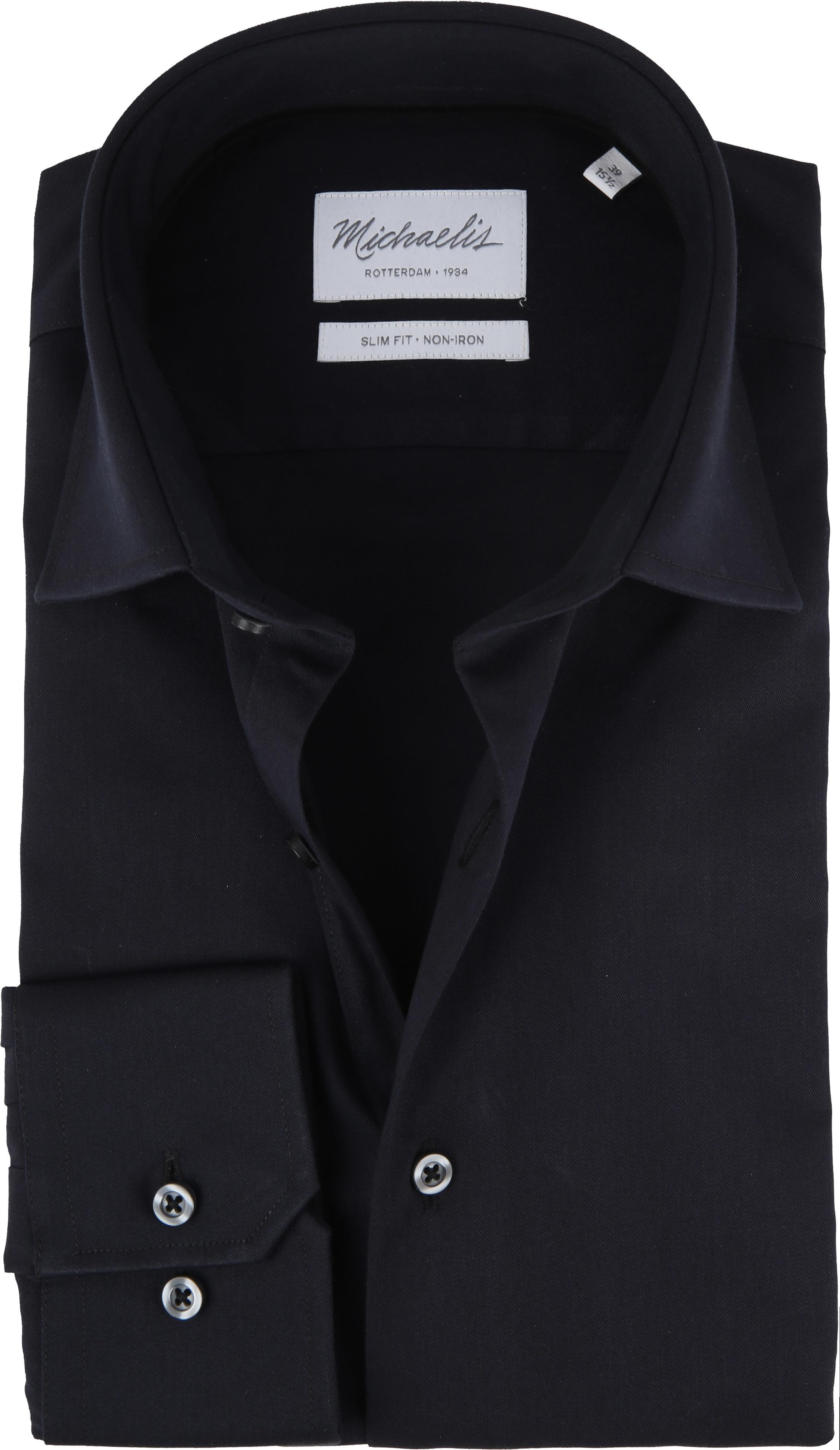 Michaelis Overhemd Slim Fit Zwart foto 0