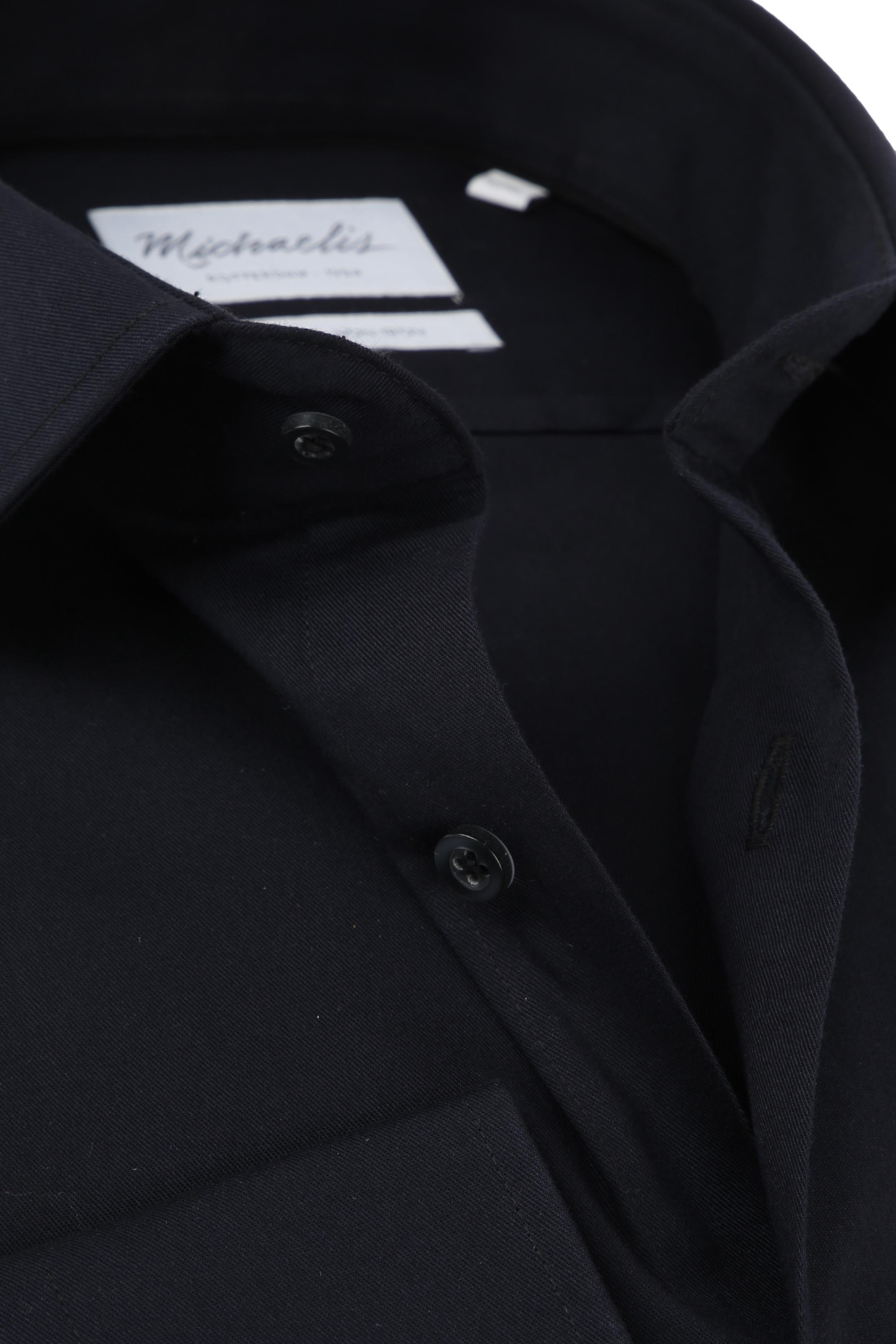 Michaelis Overhemd Slim Fit Zwart foto 2