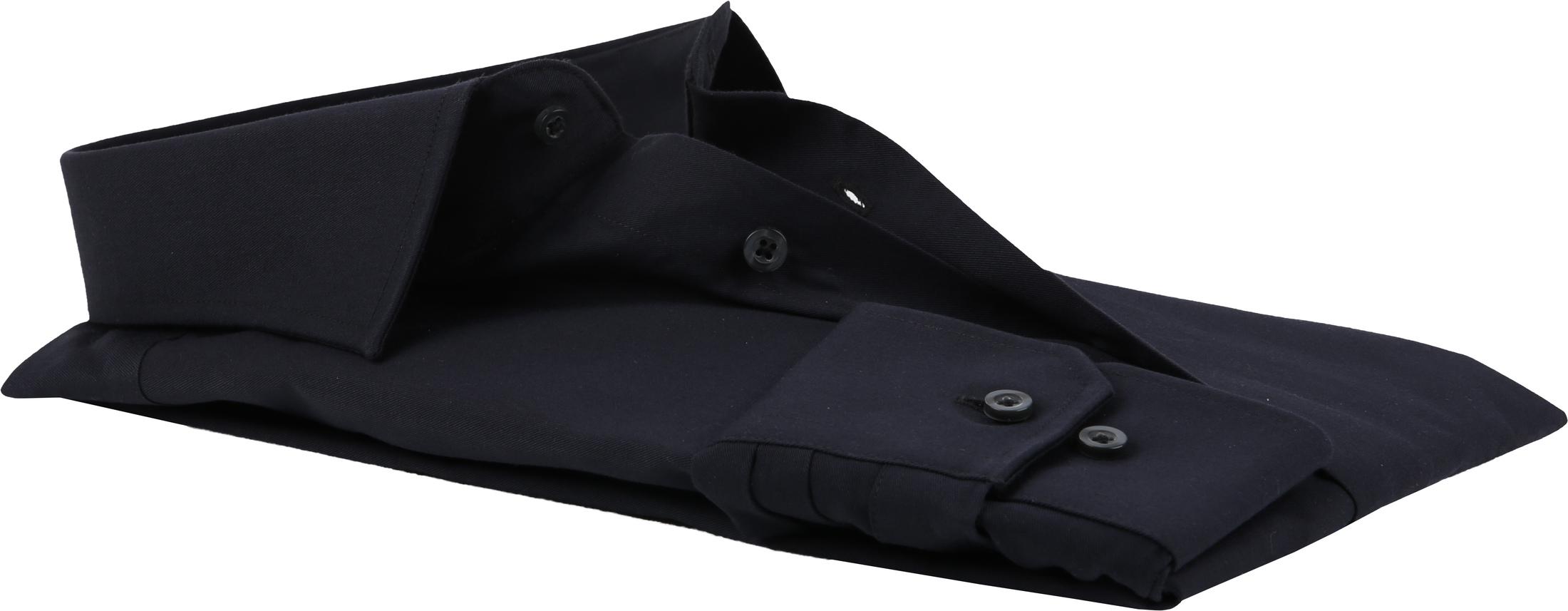 Michaelis Overhemd Slim Fit Zwart foto 4