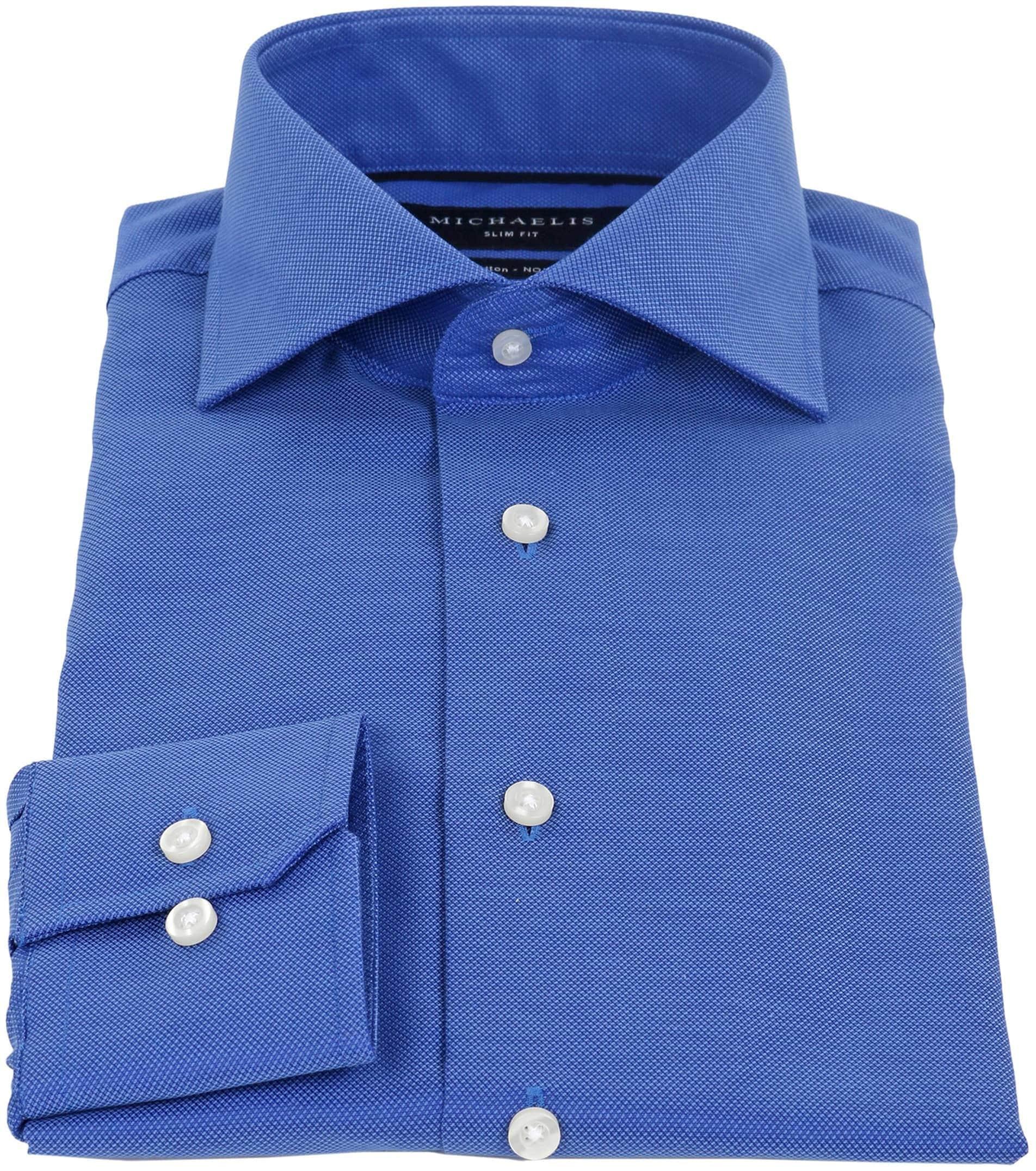 Michaelis Overhemd SlimFit Blauw foto 1