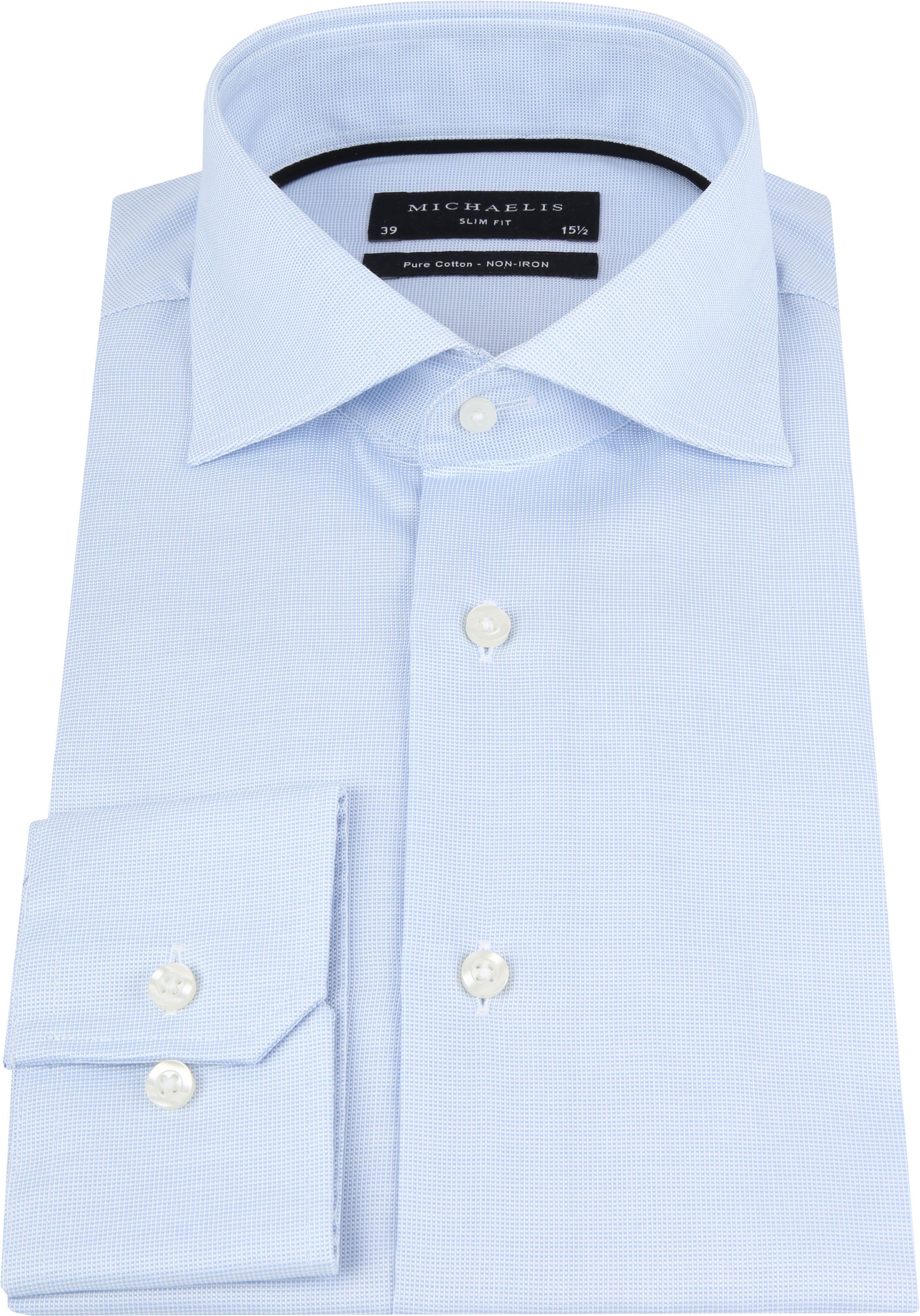 Michaelis Overhemd SlimFit Blue Dessin foto 3