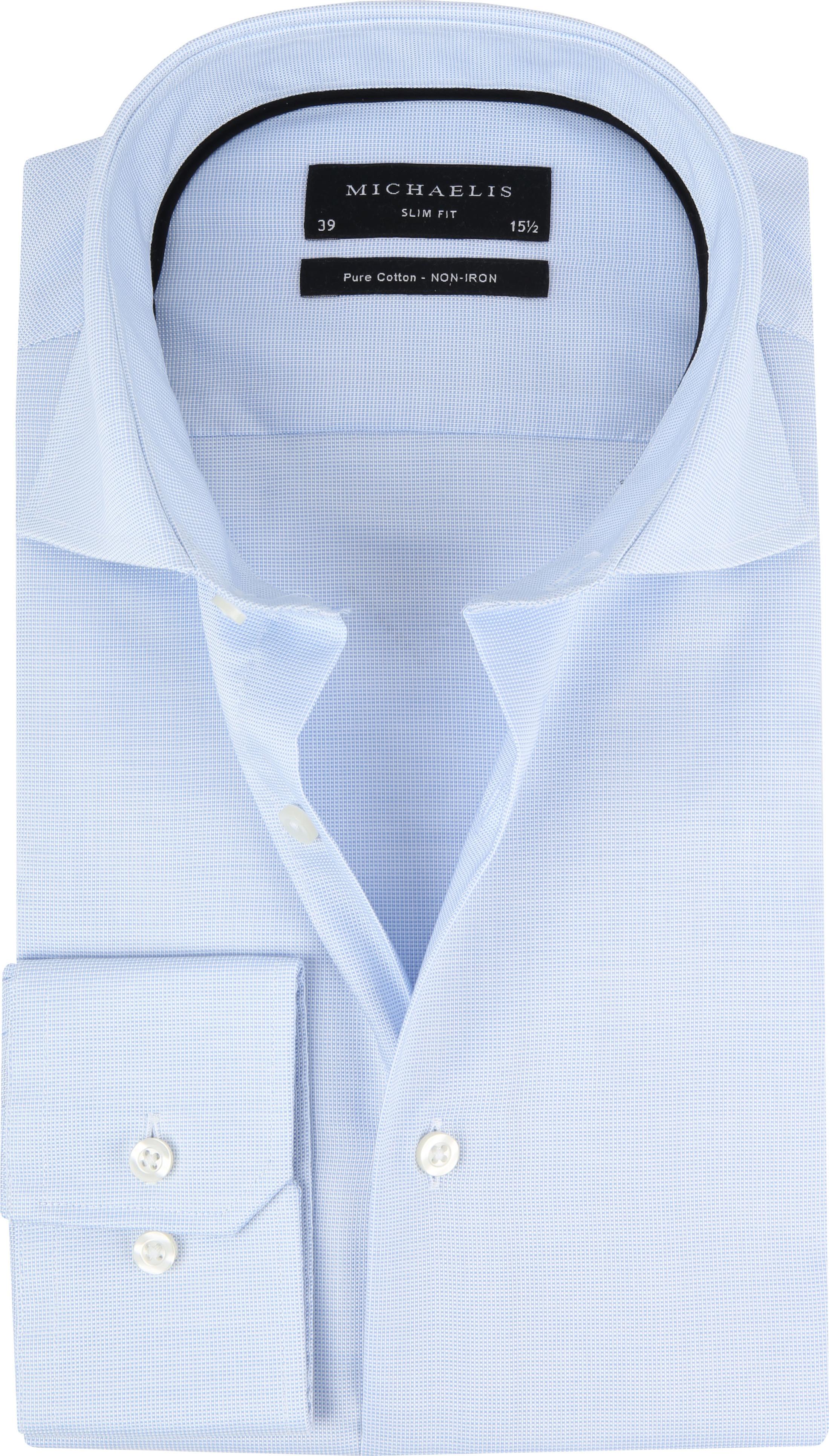 Michaelis Overhemd SlimFit Blue Dessin foto 0