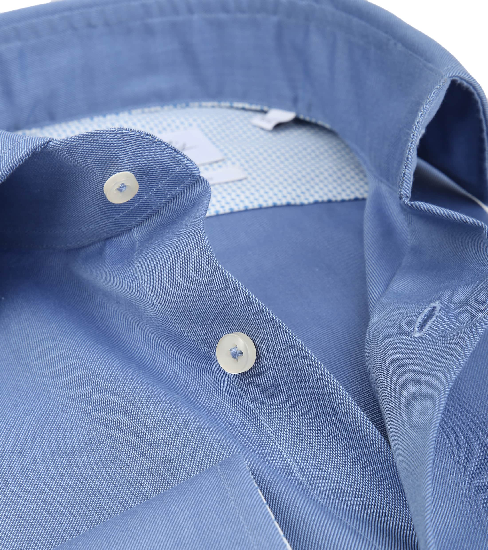 Michaelis Overhemd Strijkvrij Uni Blauw foto 1