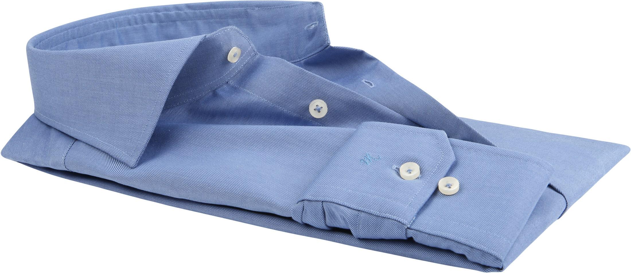 Michaelis Overhemd Strijkvrij Uni Blauw foto 3