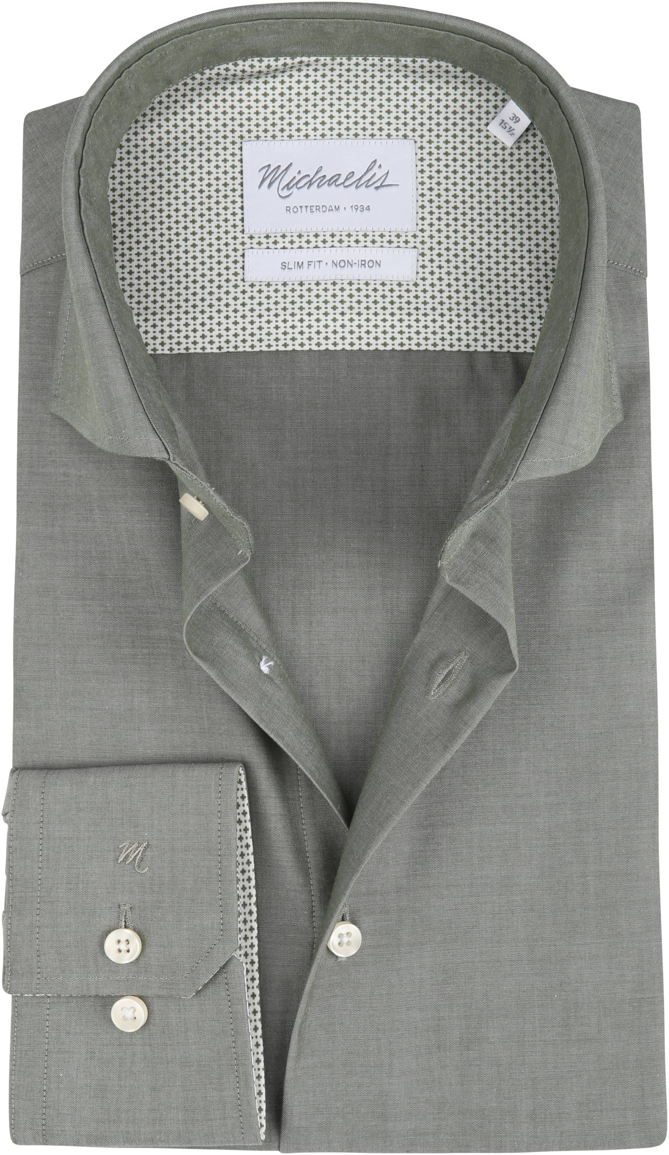 Overhemd Strijkvrij Slim Fit.Michaelis Overhemd Strijkvrij Uni Groen Pmph30006 Online Bestellen