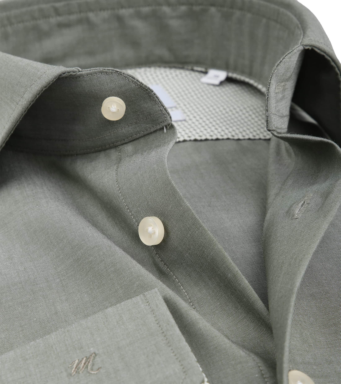 Michaelis Overhemd Strijkvrij Uni Groen foto 1