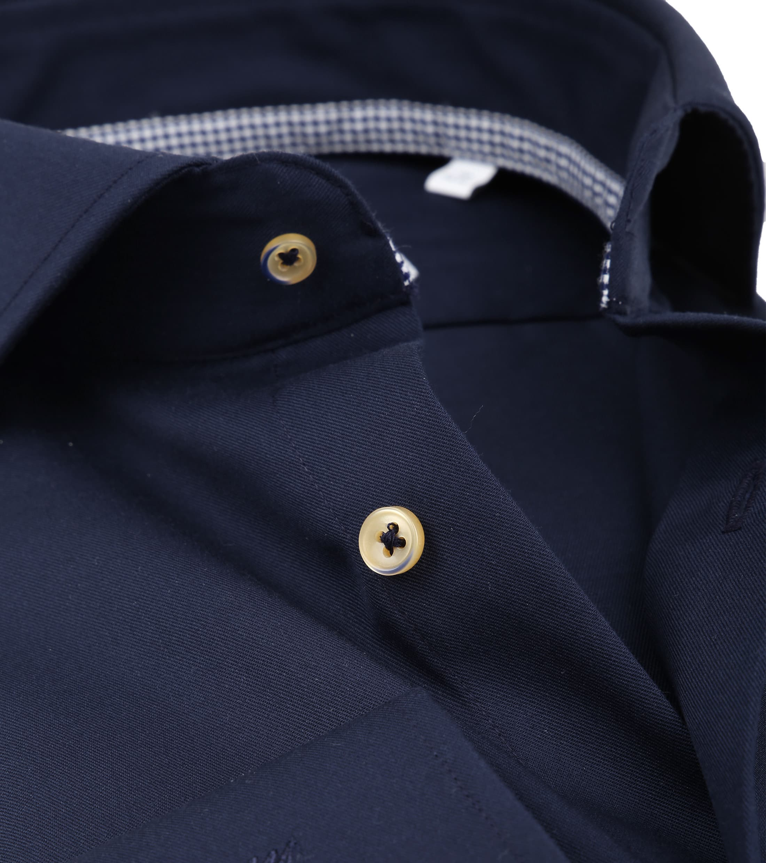 Michaelis Overhemd Strijkvrij Uni Navy foto 1