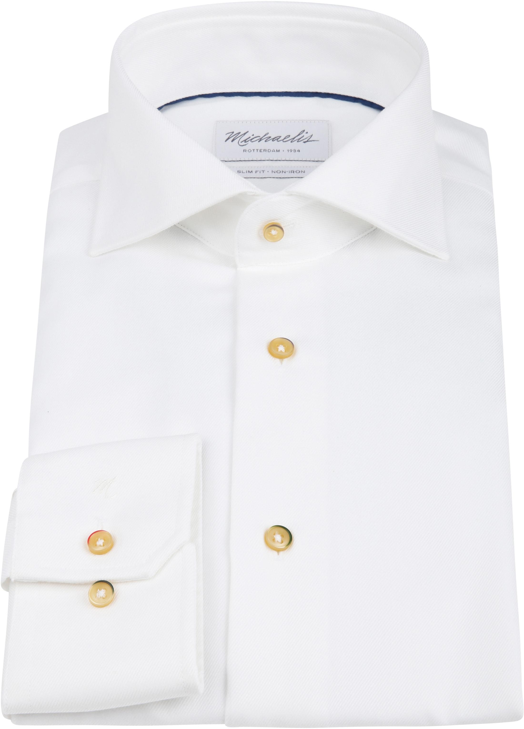 Michaelis Overhemd Strijkvrij Wit foto 2
