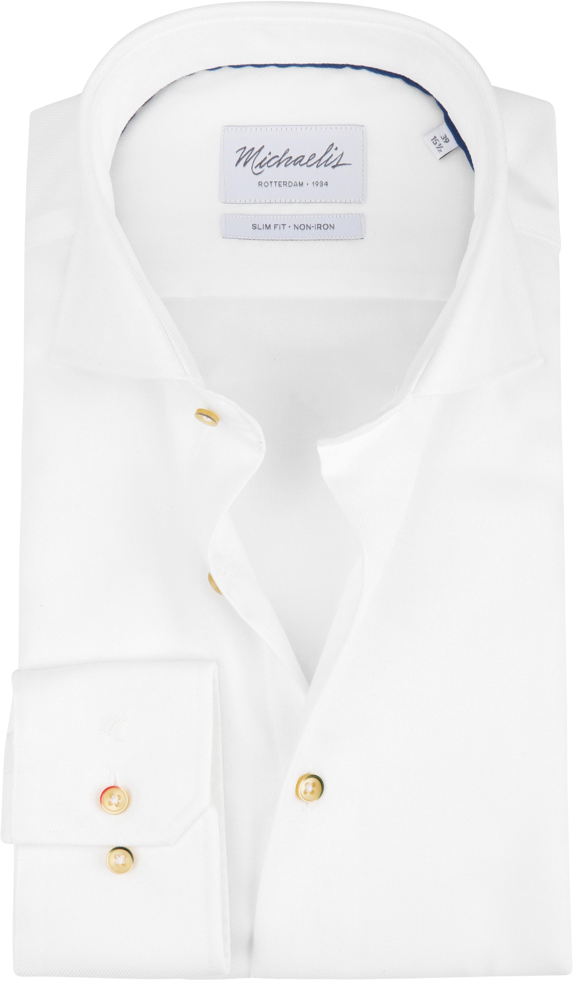 Michaelis Overhemd Strijkvrij Wit foto 0