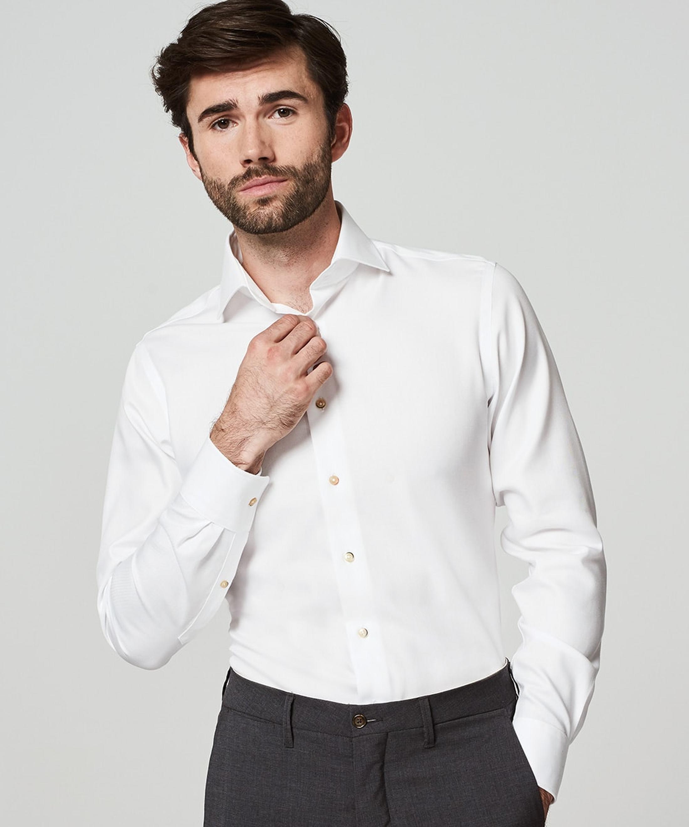 Michaelis Overhemd Strijkvrij Wit foto 4