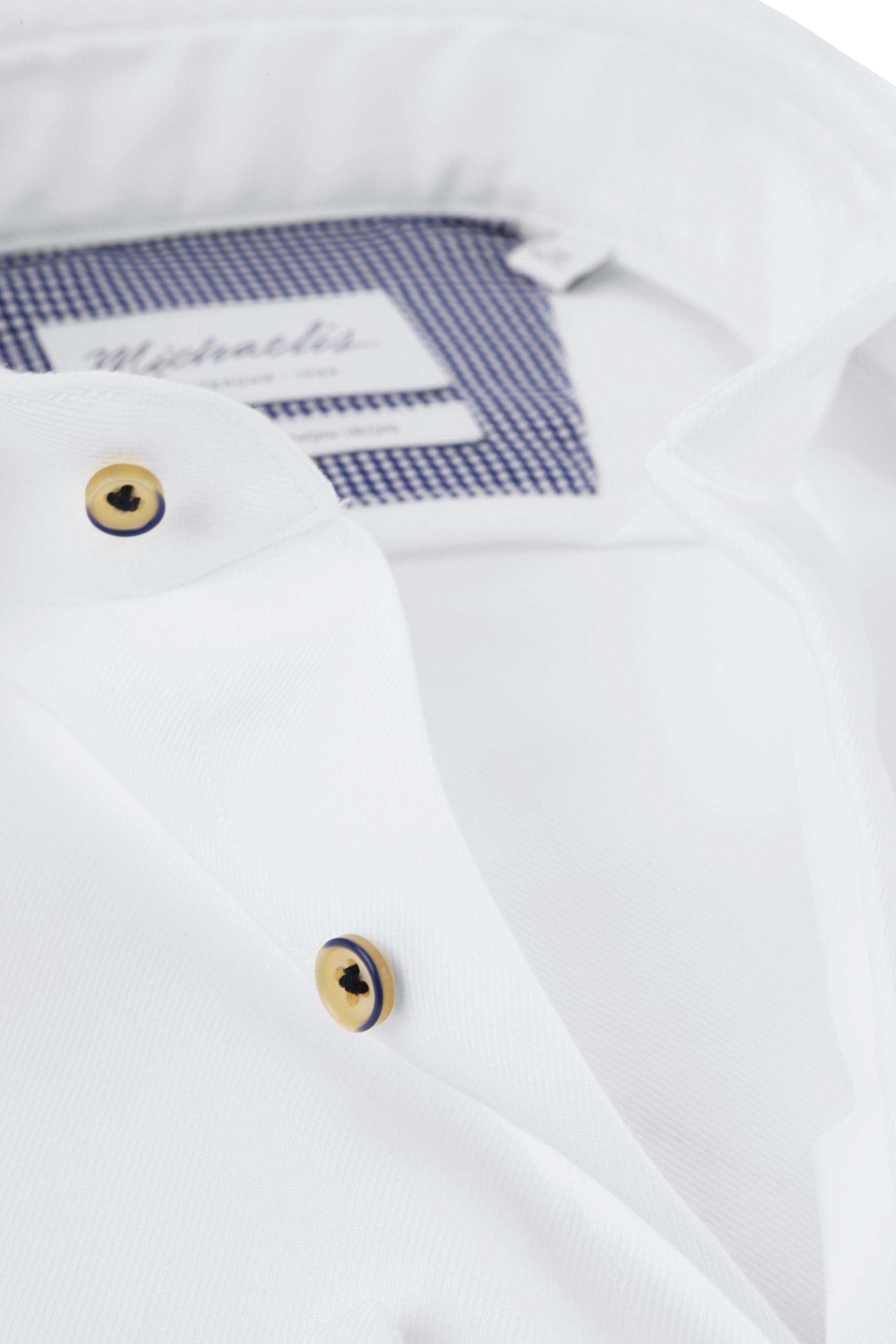 Michaelis Overhemd Twill Strijkvrij Wit foto 1