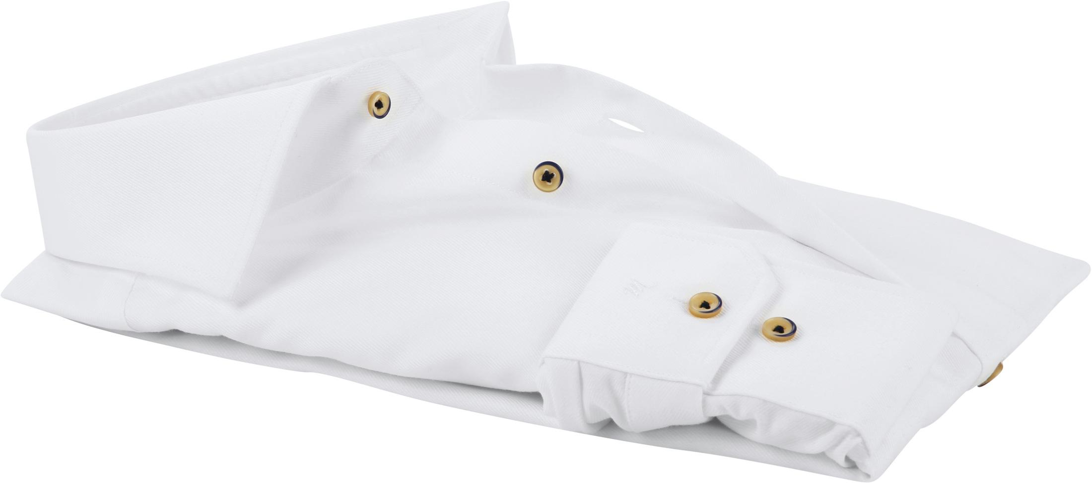 Michaelis Overhemd Twill Strijkvrij Wit foto 3