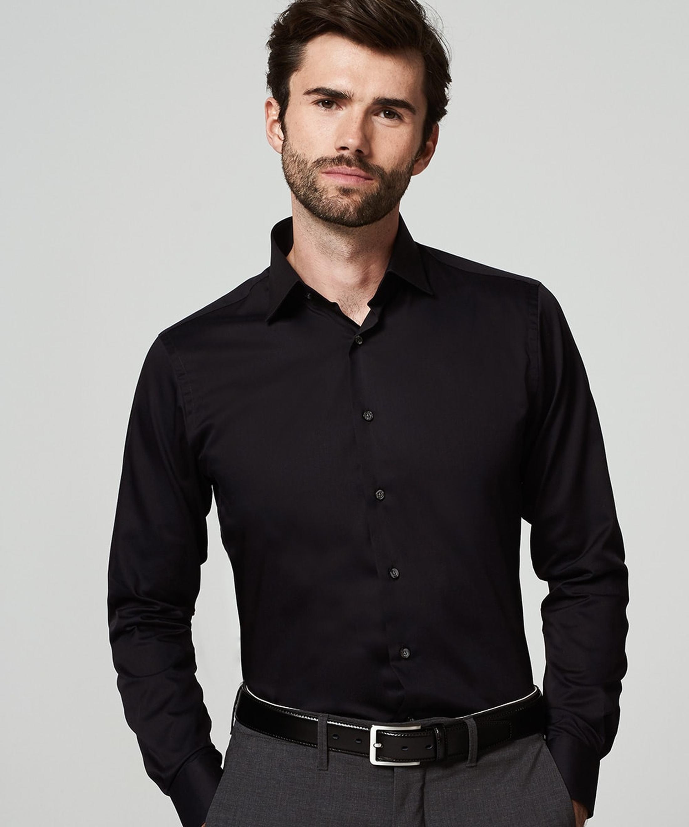 Michaelis Overhemd Zwart SL7 foto 4