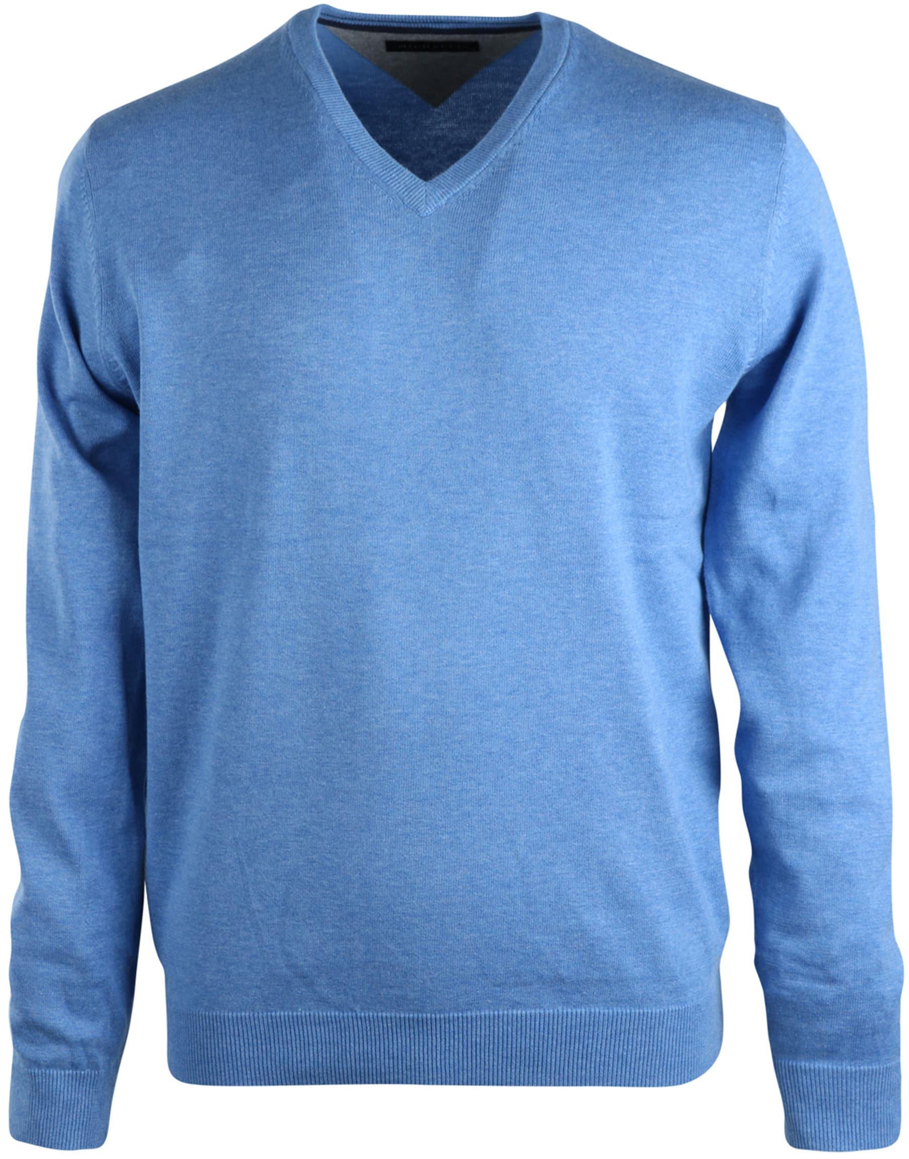 Michaelis Pullover V-Hals Lichtblauw foto 0