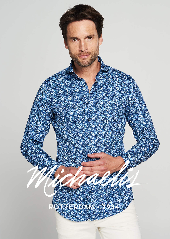 Michaelis Shirt Hawaii SL7 Navy  foto 4