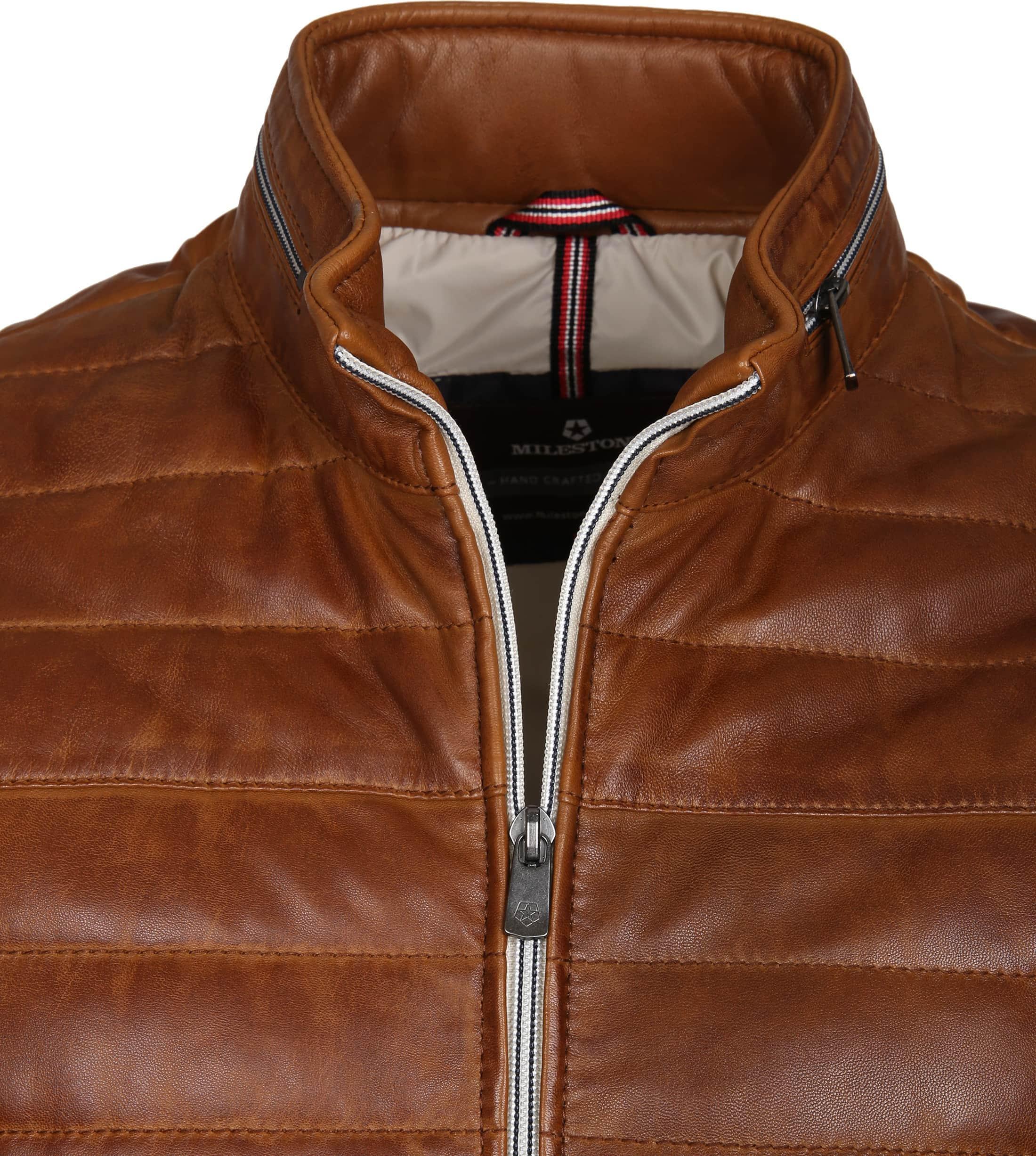 Milestone Tereno Leather Jacke Cognac Foto 1