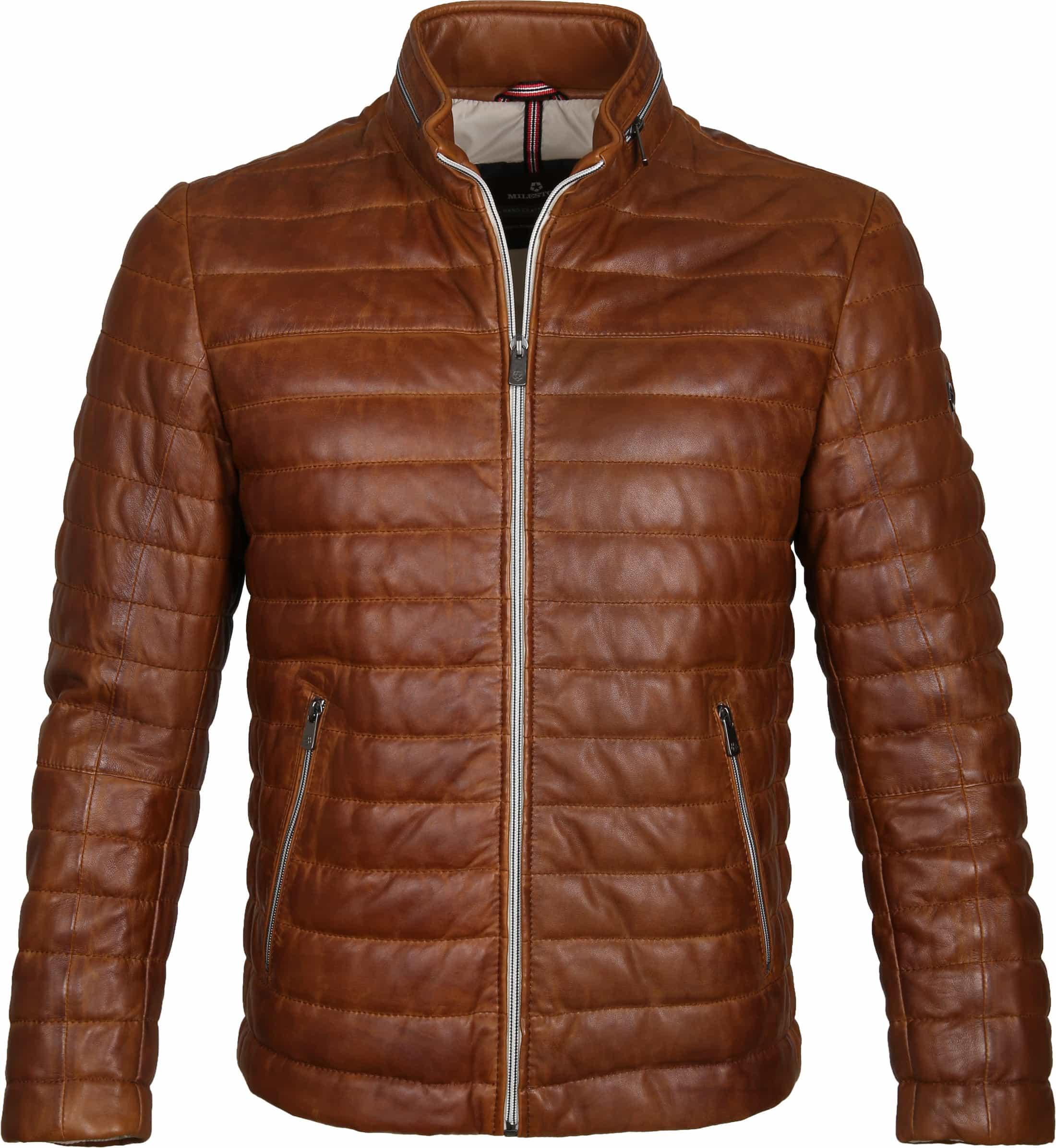 Milestone Tereno Leather Jacket Cognac foto 0