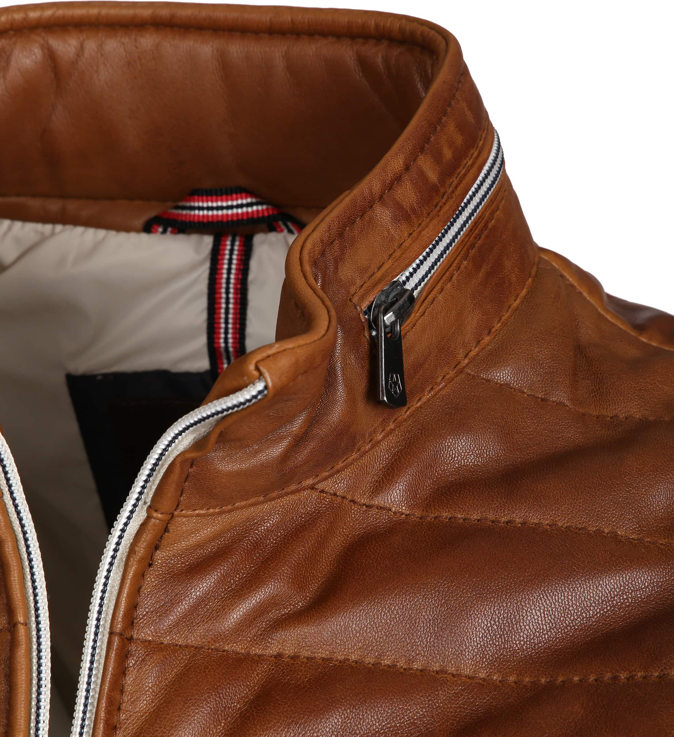 Milestone Tereno Leather Jacket Cognac foto 2