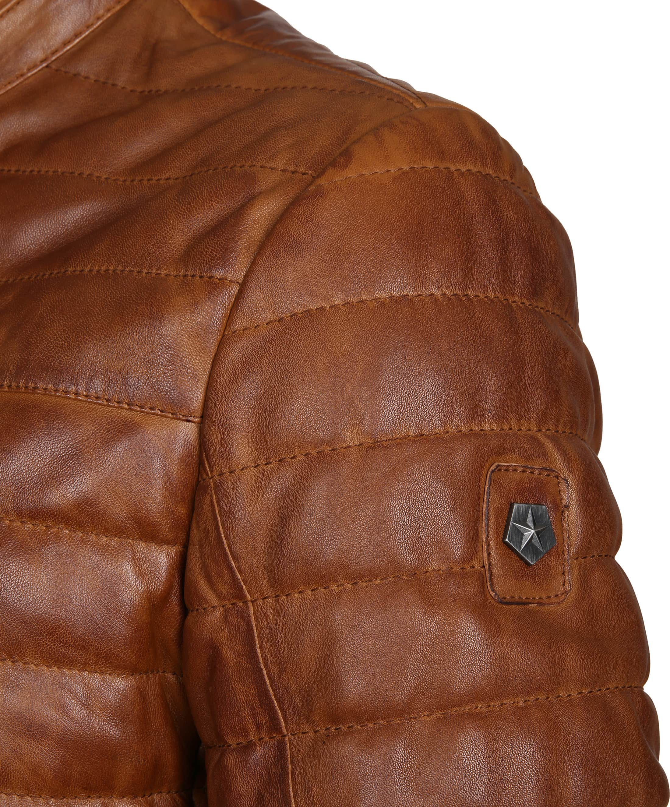 Milestone Tereno Leather Jacket Cognac foto 3