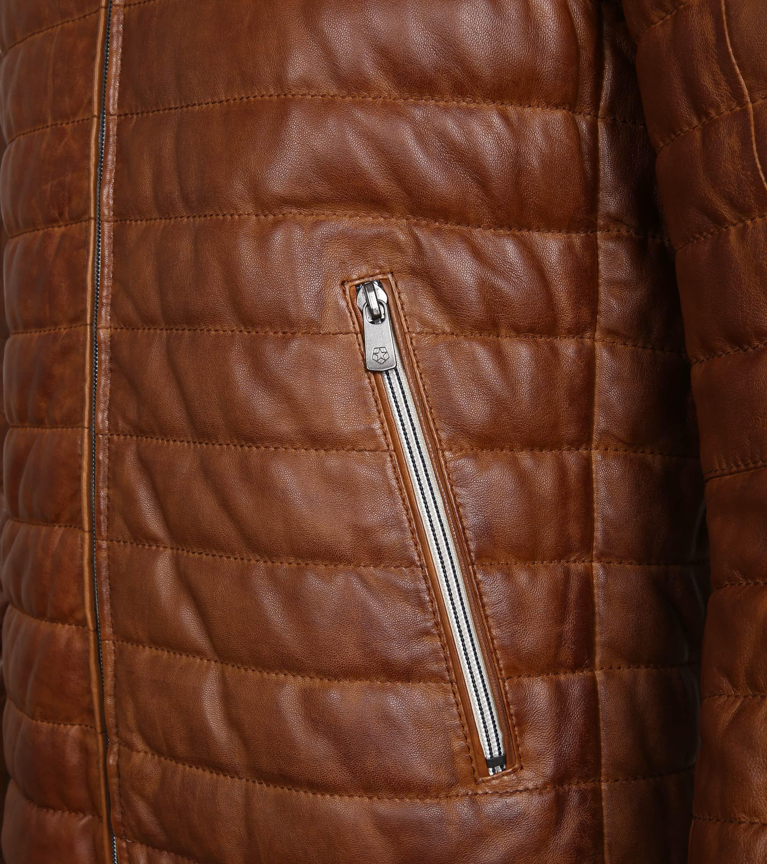Milestone Tereno Leather Jacket Cognac foto 4