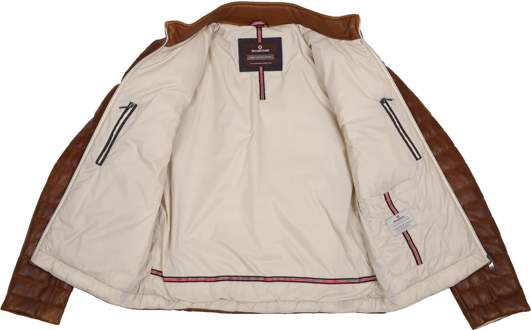 Milestone Tereno Leather Jacket Cognac foto 6