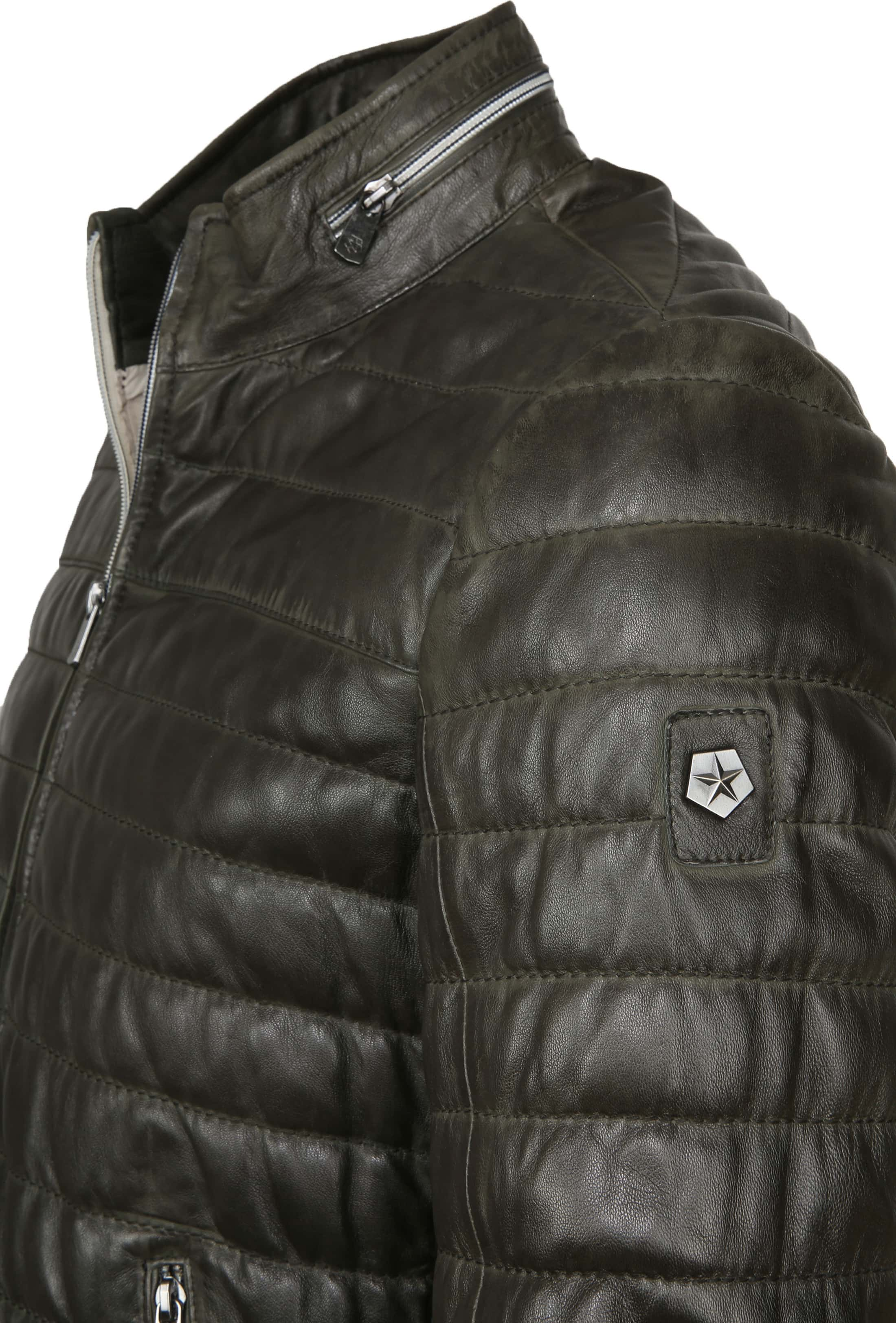 Milestone Tereno Leather Jacket Dark Green foto 1