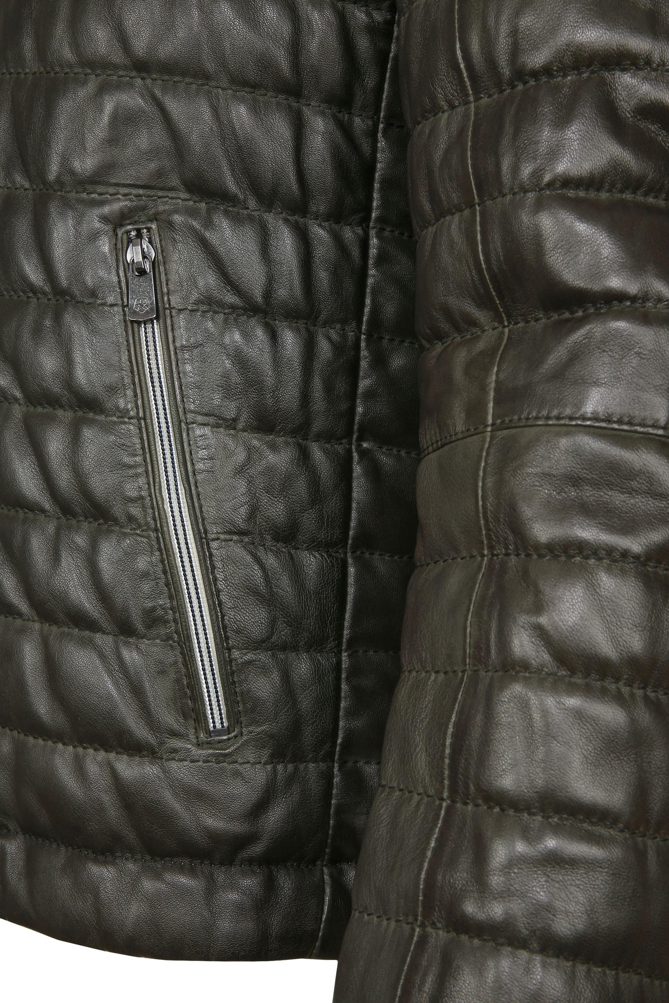Milestone Tereno Leather Jacket Dark Green foto 4