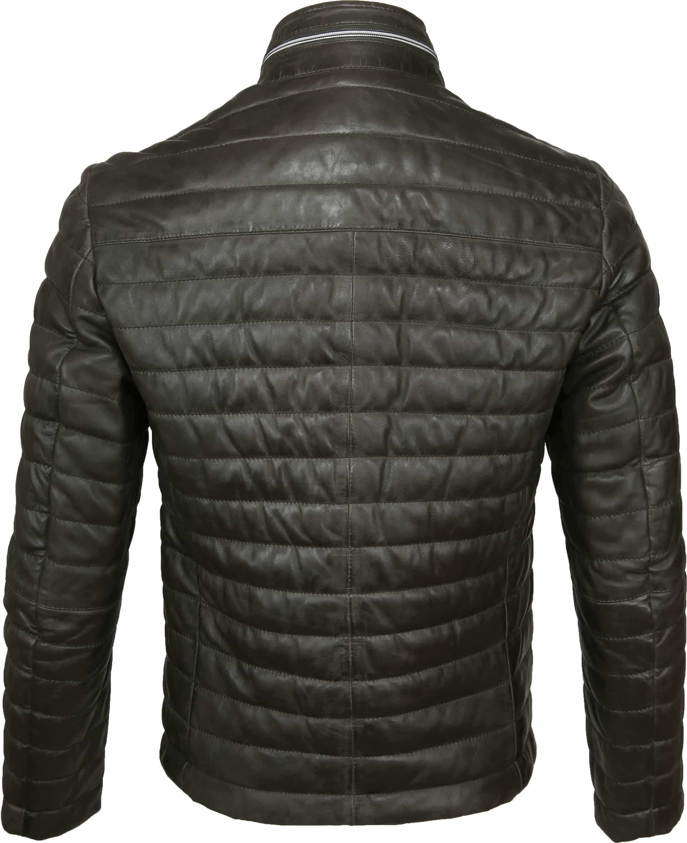 Milestone Tereno Leather Jacket Dark Green foto 5