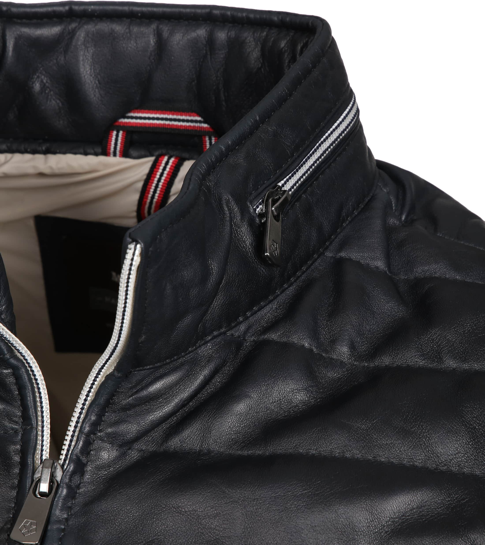 Milestone Tereno Leather Jacket Navy Grey foto 2