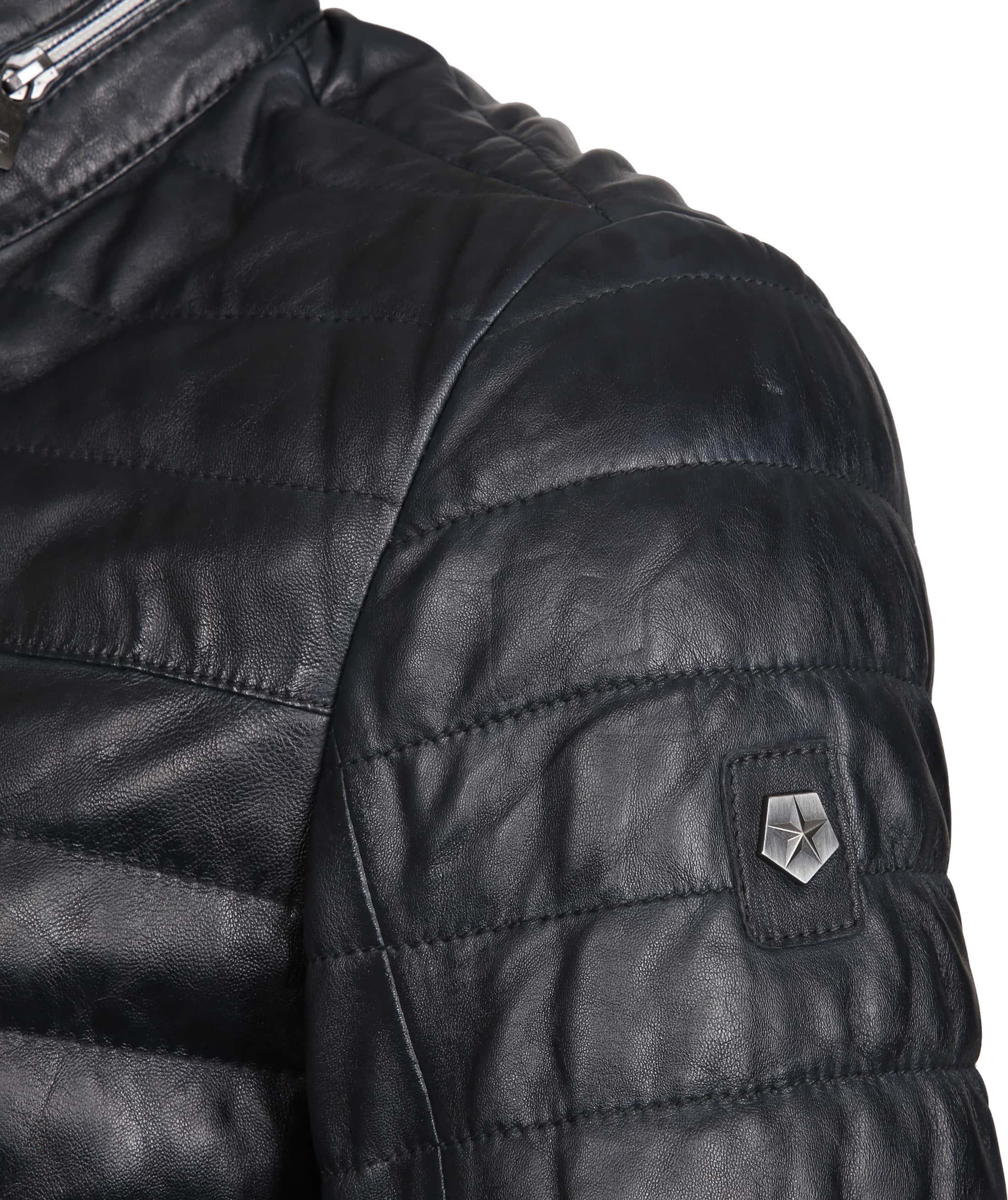 Milestone Tereno Leather Jacket Navy Grey foto 3