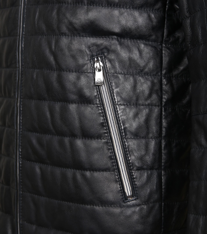 Milestone Tereno Leather Jacket Navy Grey foto 4
