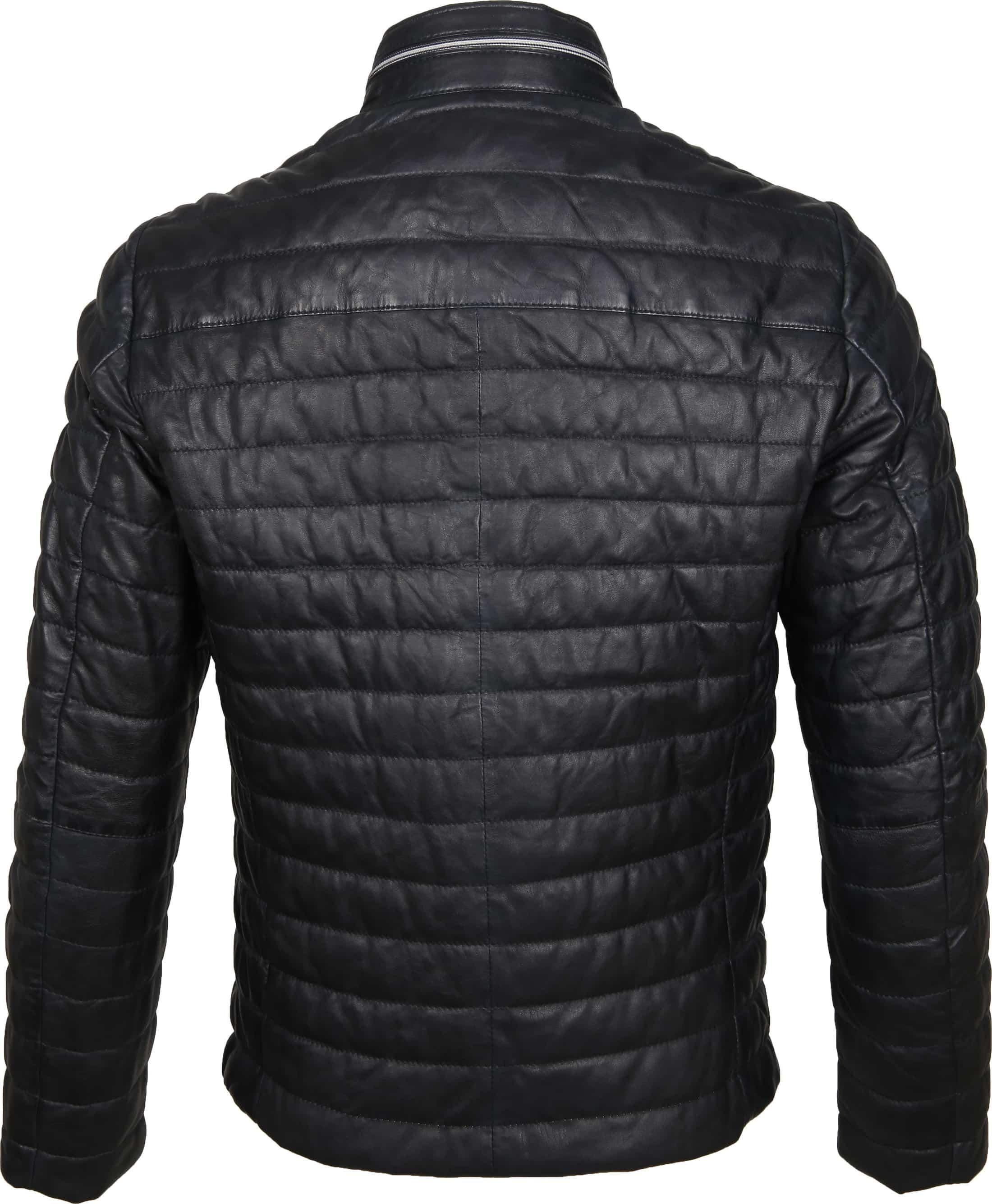 Milestone Tereno Leather Jacket Navy Grey foto 5
