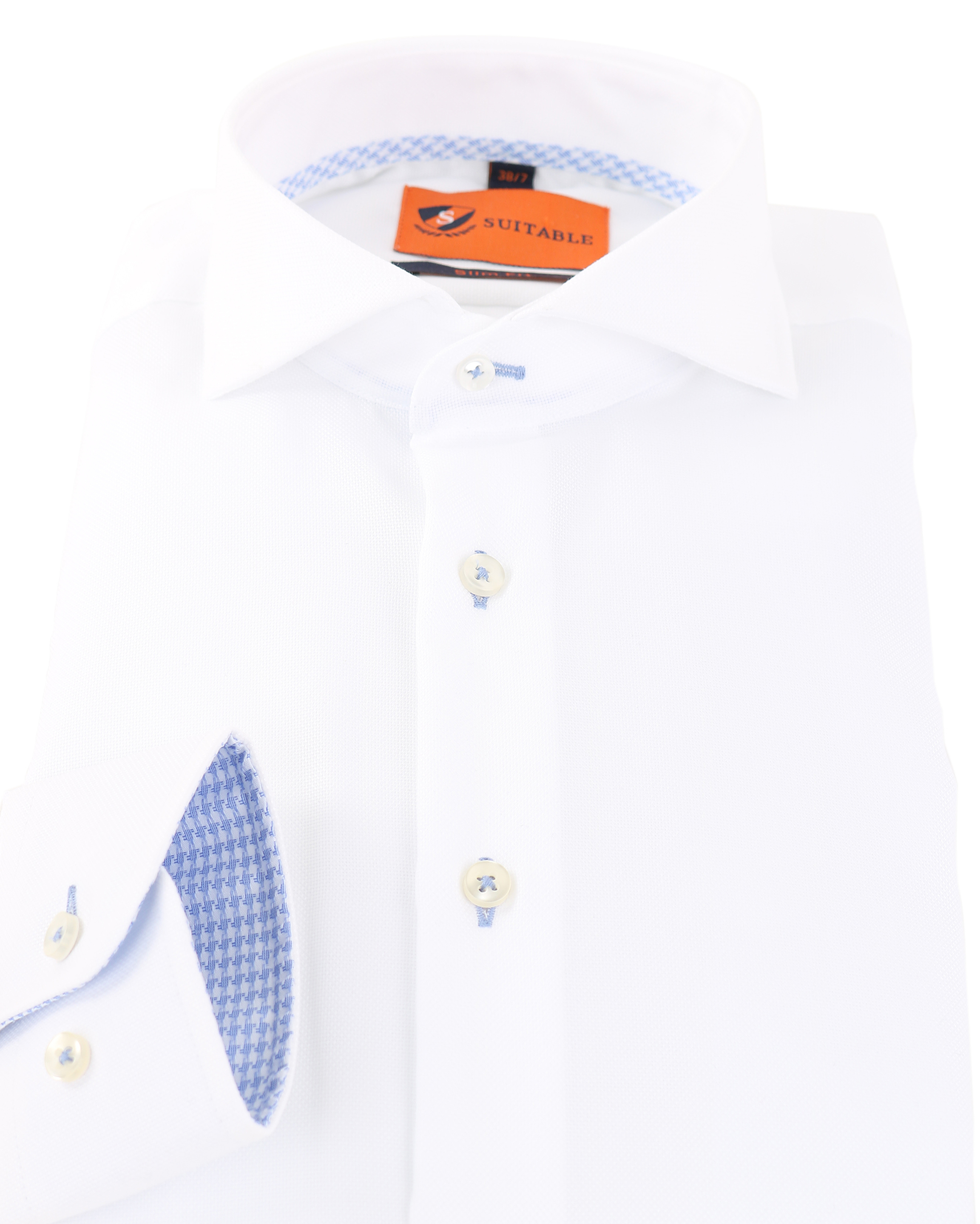 Mouwlengte 7 Overhemd Wit 150-1 foto 1
