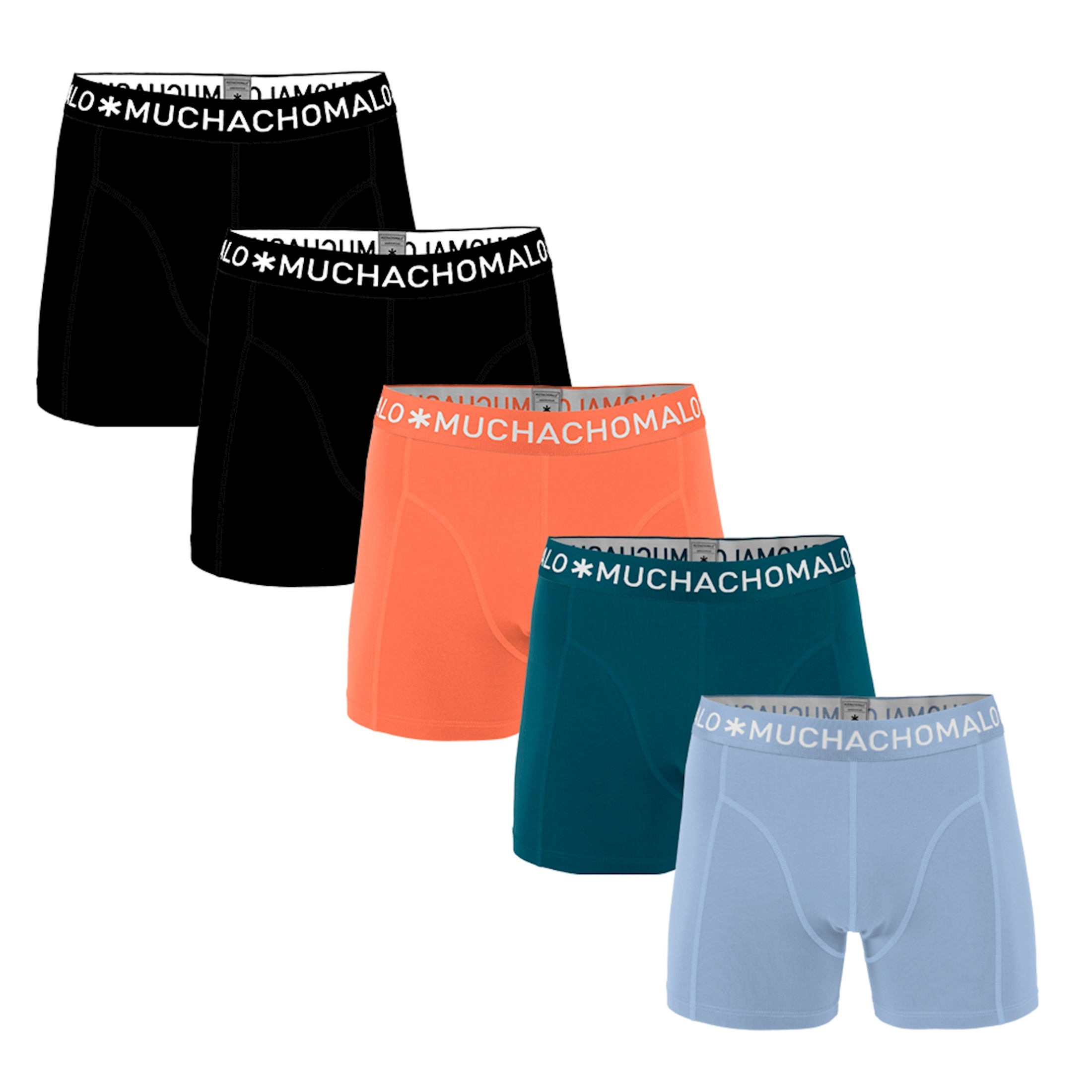 Muchachomalo Boxer Shorts Solid 5-Pack