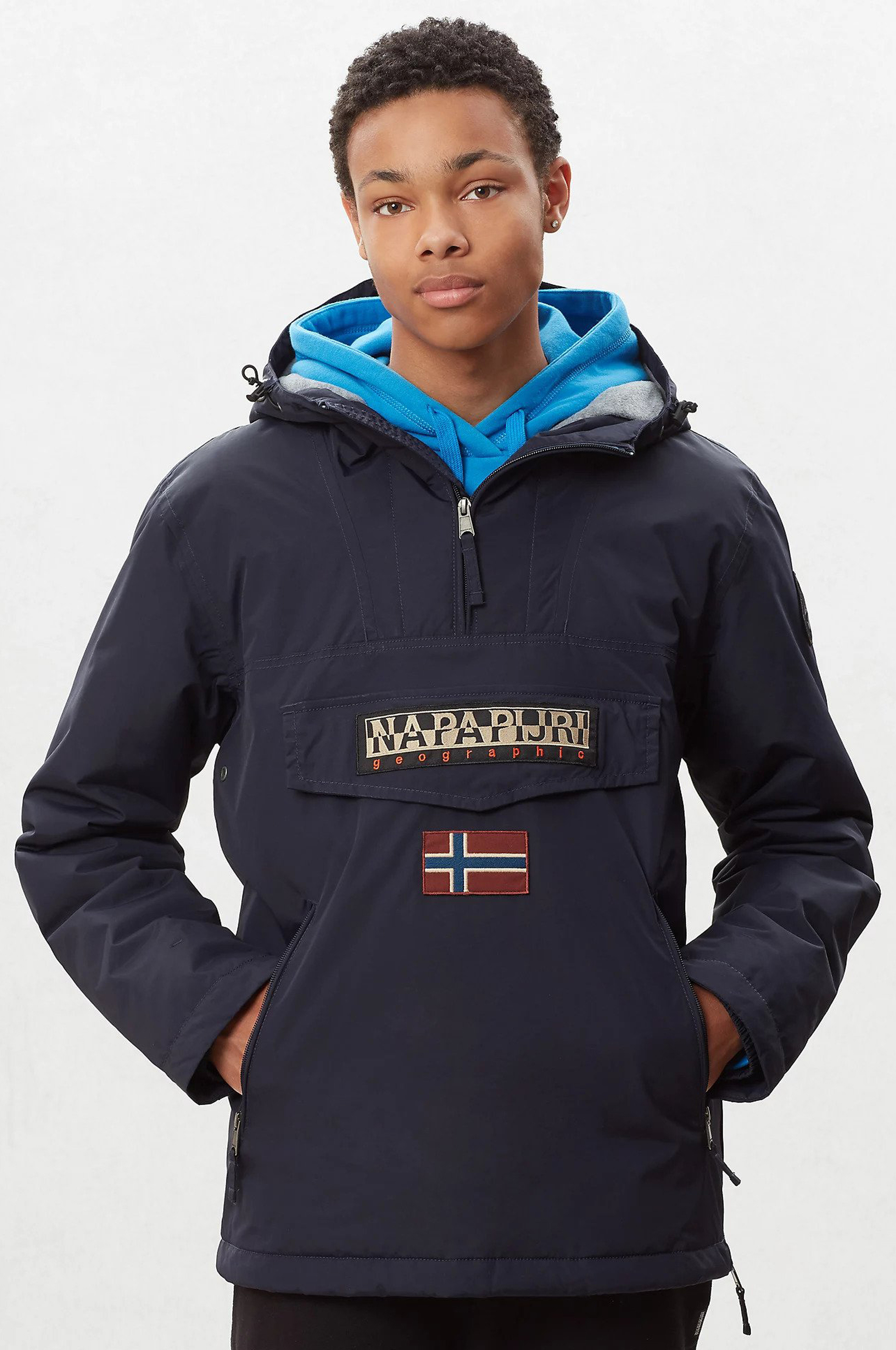 Napapijri Anorak Rainforest Pocket Navy foto 7