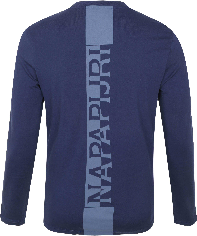 Napapijri Longsleeve T-Shirt Donkerblauw Surf