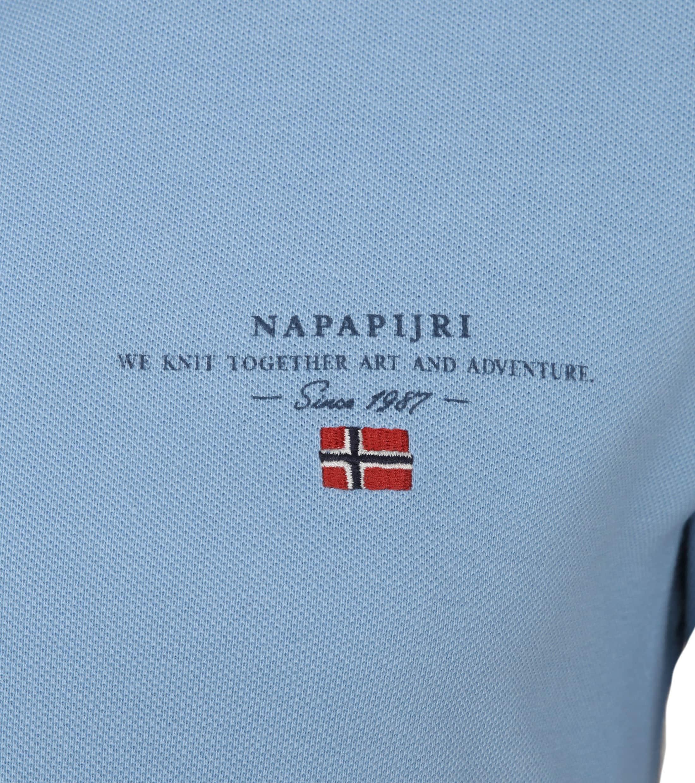 Napapijri Polo Elbas 2 Lichtblauw foto 1
