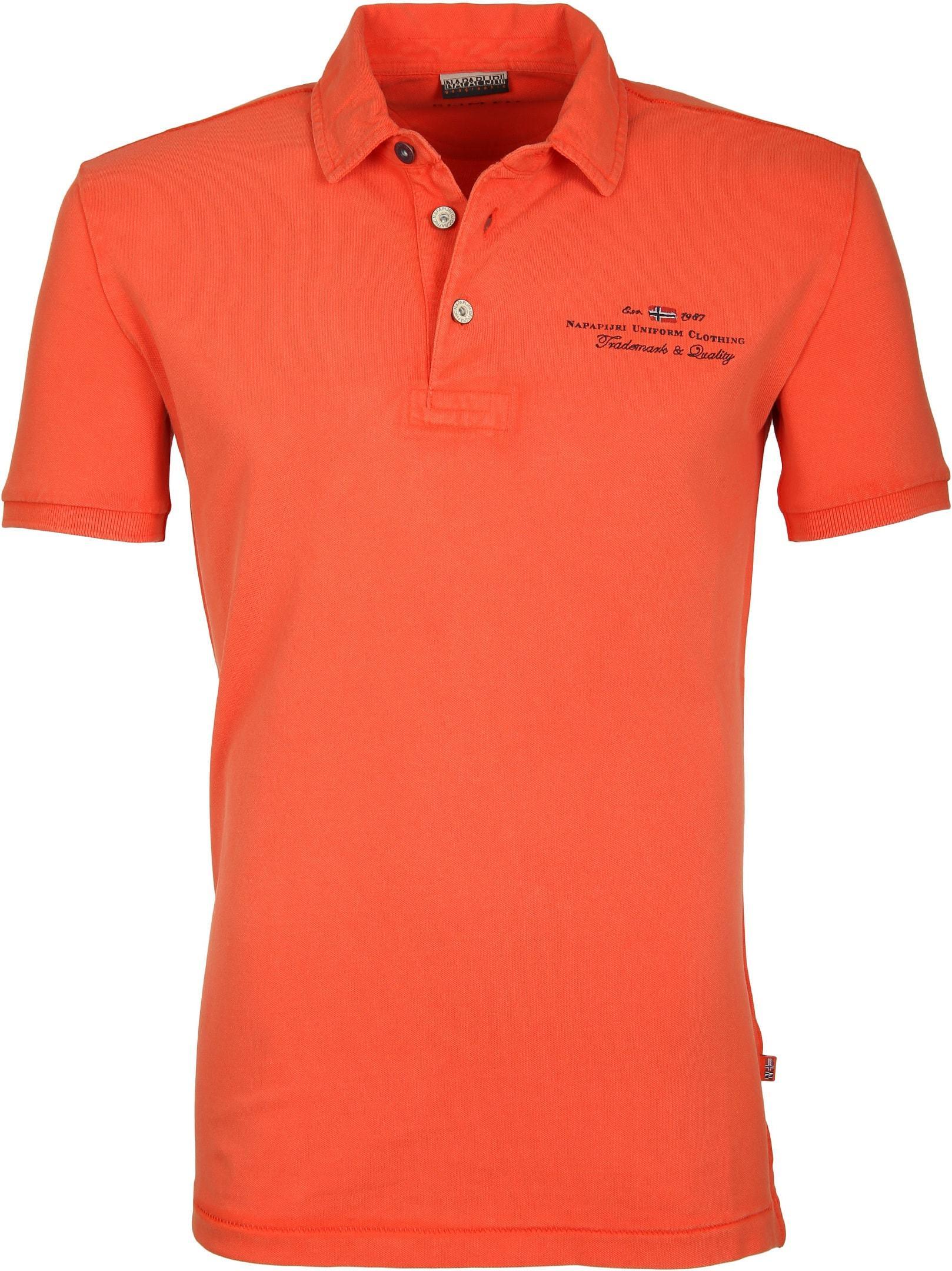 Napapijri Polo Stretch Elbas Oranje foto 0