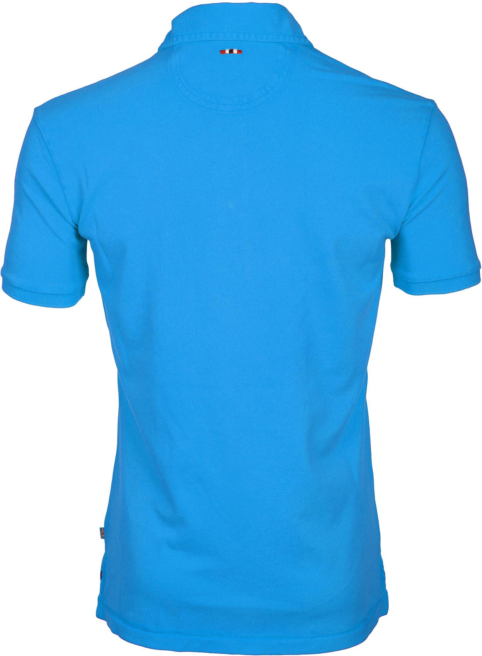 Napapijri Polo Stretch Elbas Turquoise foto 2