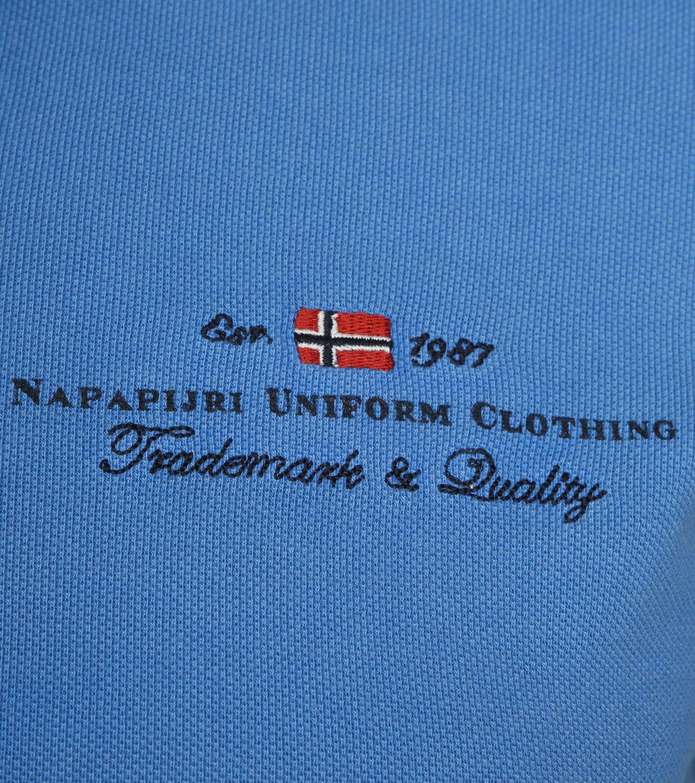 Napapijri Poloshirt Elbas LS Hellblau foto 2