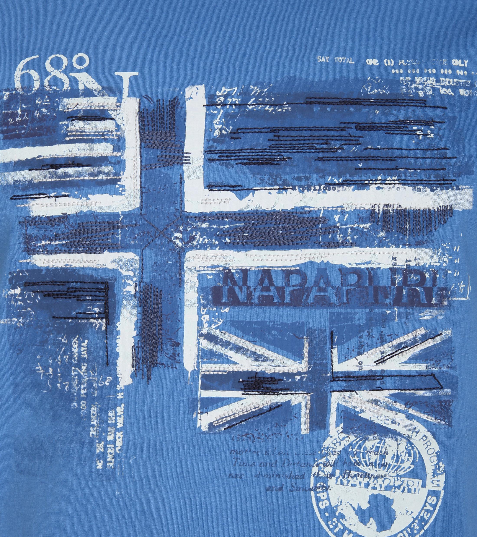 Napapijri T-shirt Sancy Print Blau foto 1
