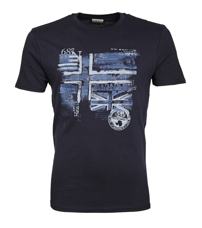 Napapijri T-shirt Sancy Print Dunkelblau foto 0