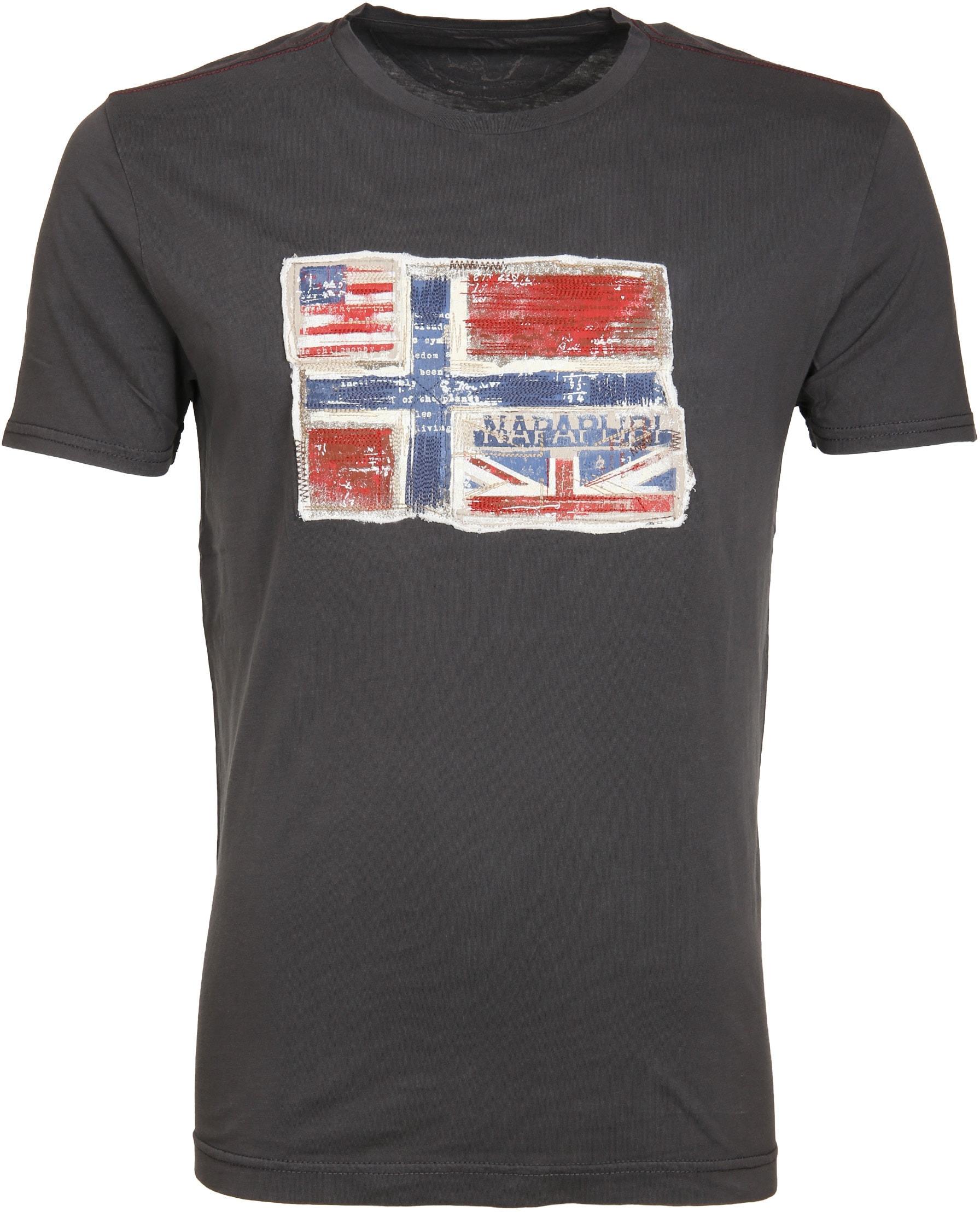 Napapijri T-shirt Senou Flag Antraciet foto 0