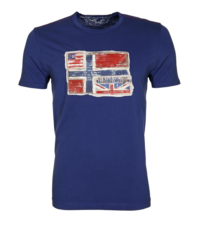 Napapijri T-shirt Senou Flag Kobalt foto 0