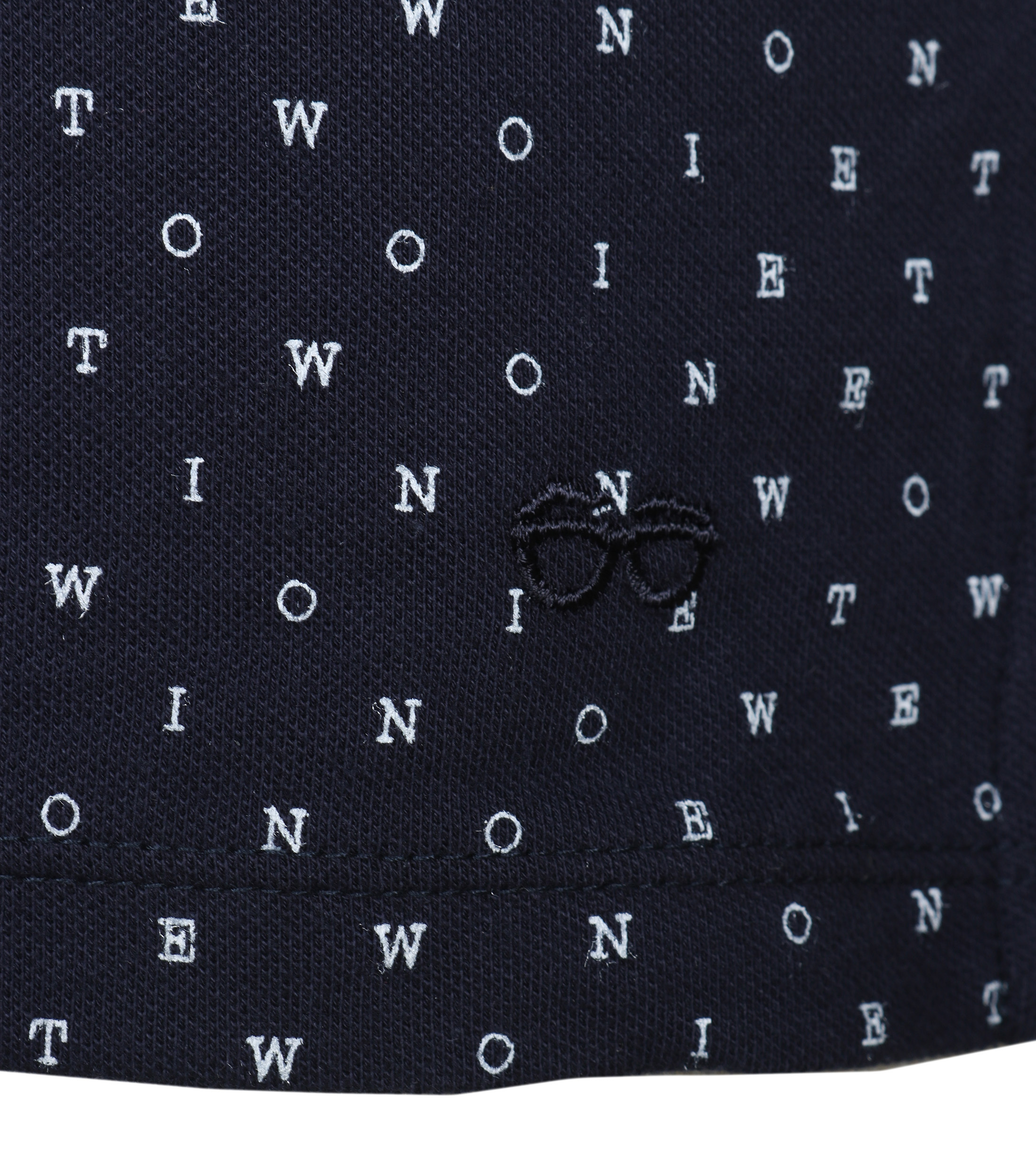 New In Town Polo Navy Tekst foto 2