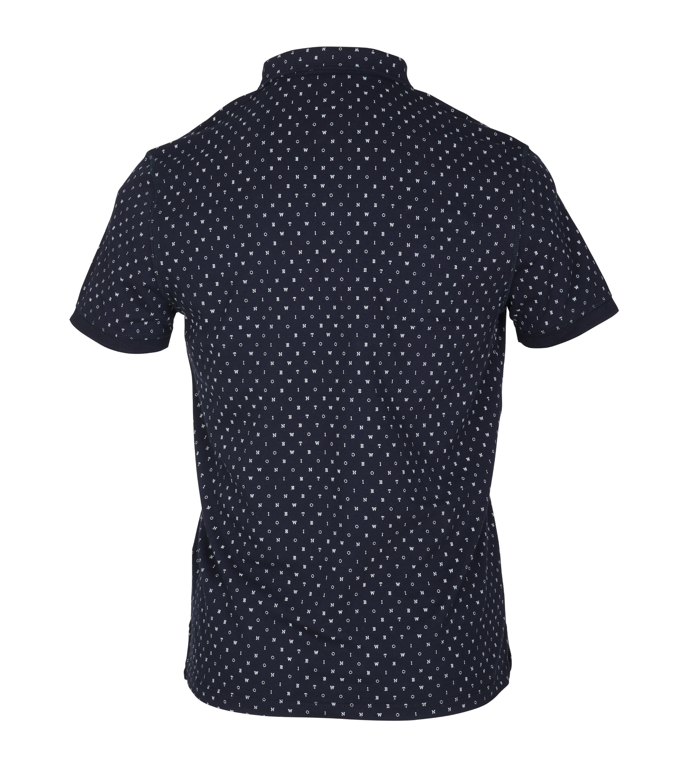 New In Town Polo Navy Tekst foto 3