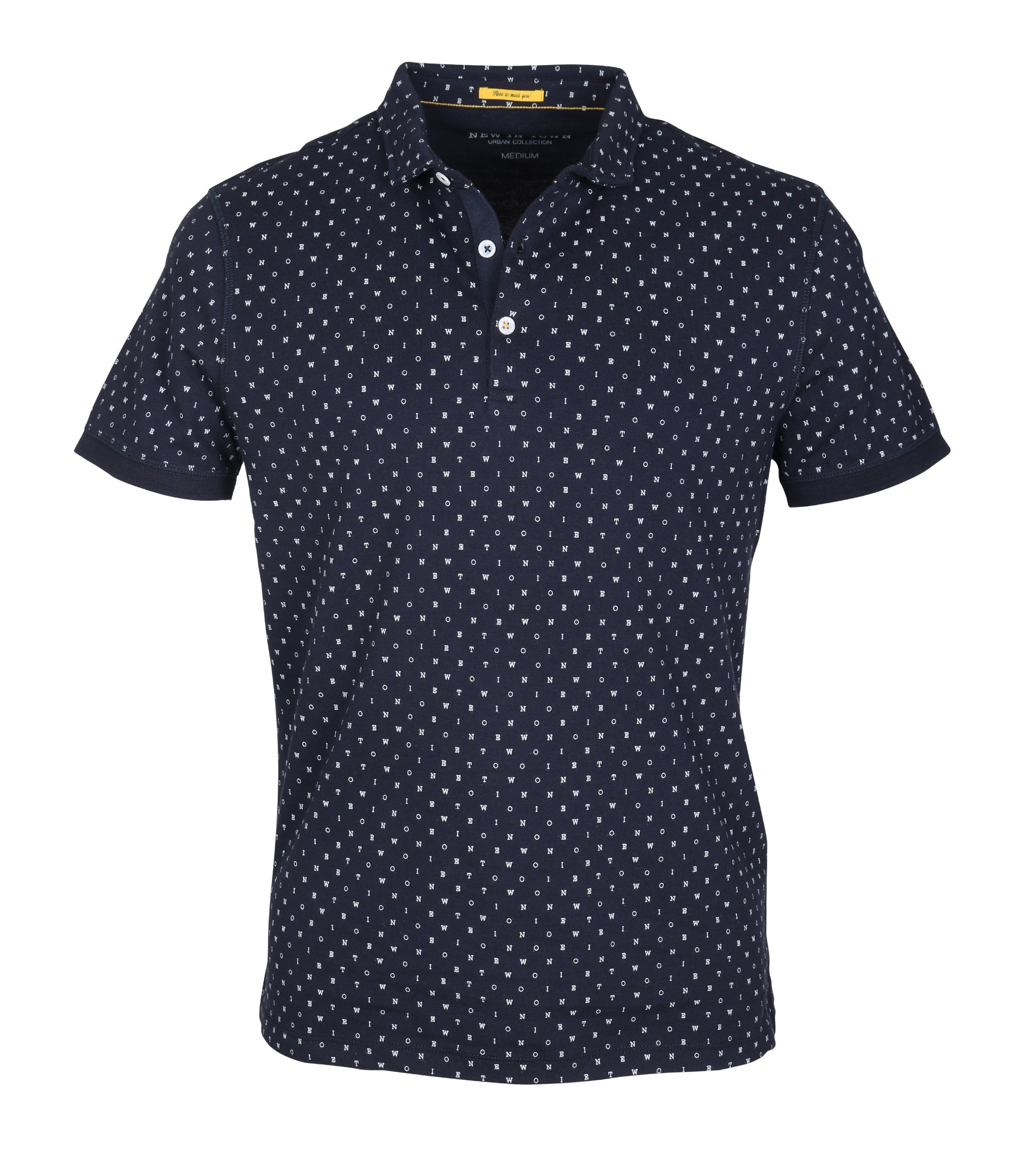 New In Town Polo Navy Tekst foto 0